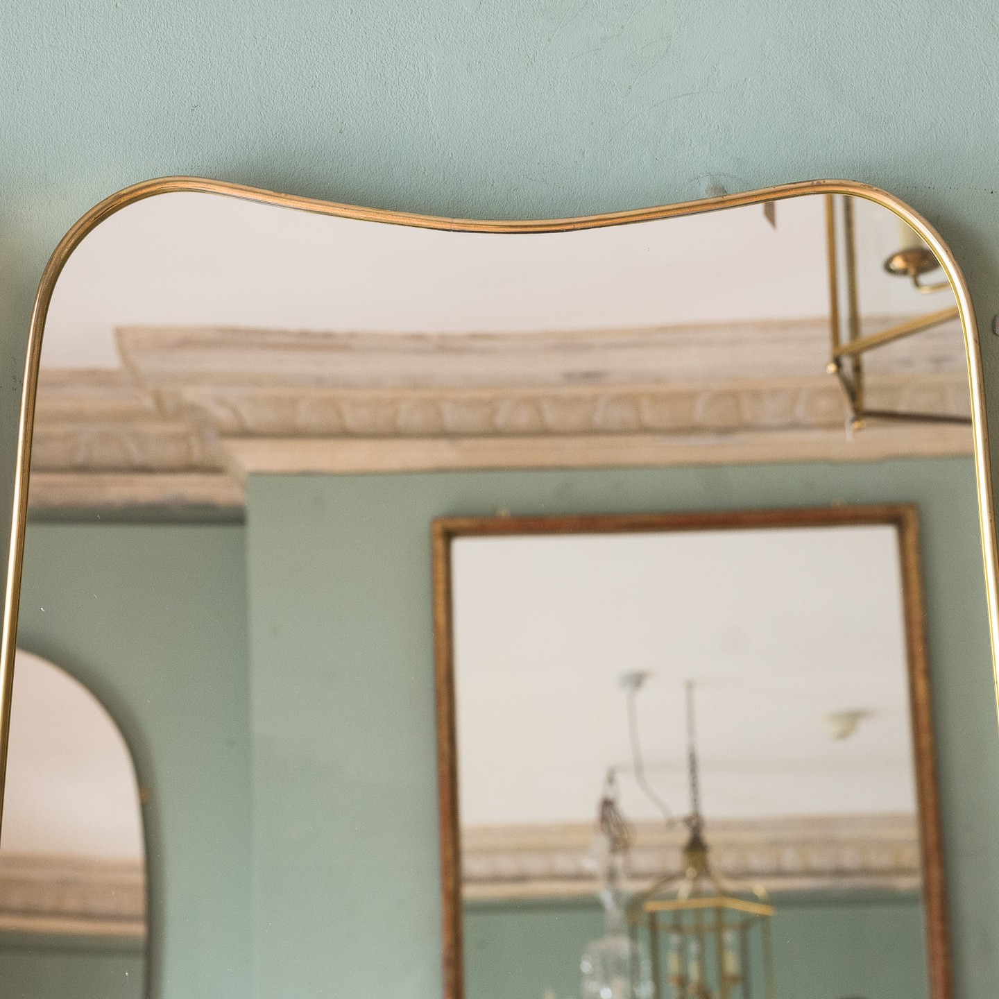 Italian Wall Mirrors Intended For Most Up To Date Italian Brass Bound Wall Mirror – Mirrors – Lassco Brunswick House (Gallery 11 of 20)