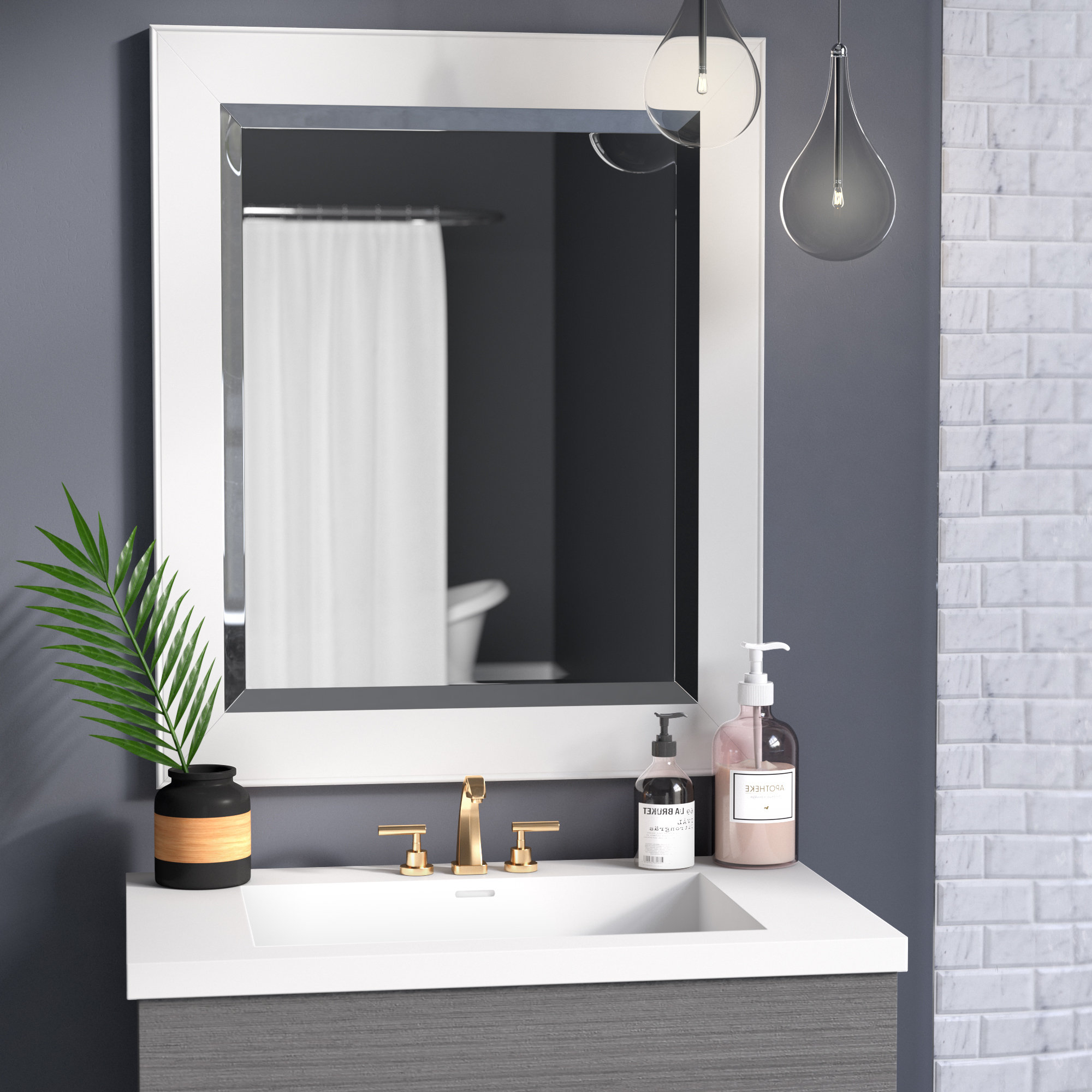 Ivor Bathroom/vanity Wall Mirror Pertaining To Well Known Vanity Wall Mirrors (View 10 of 20)