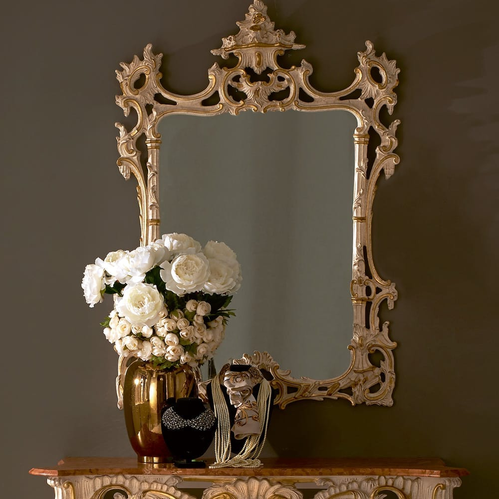 Ivory Wall Mirrors Intended For Favorite Baroque Reproduction Ivory And Gold Italian Wall Mirror (View 10 of 20)