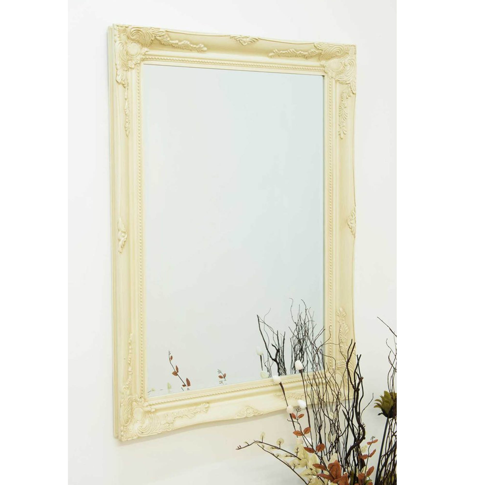 Ivory Wall Mirrors Within Most Current Ivory Decorative Antique French Style Wall Mirror (View 12 of 20)