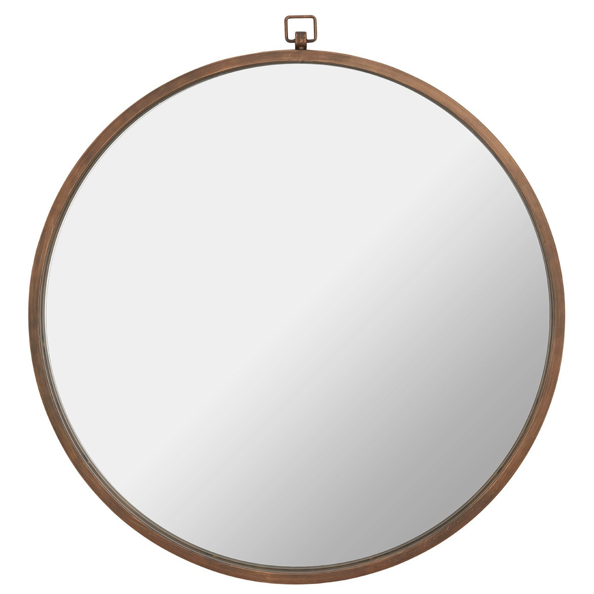 Jacen Round Wall Mirror – Bronze With Well Known Modern Round Wall Mirrors (View 6 of 20)