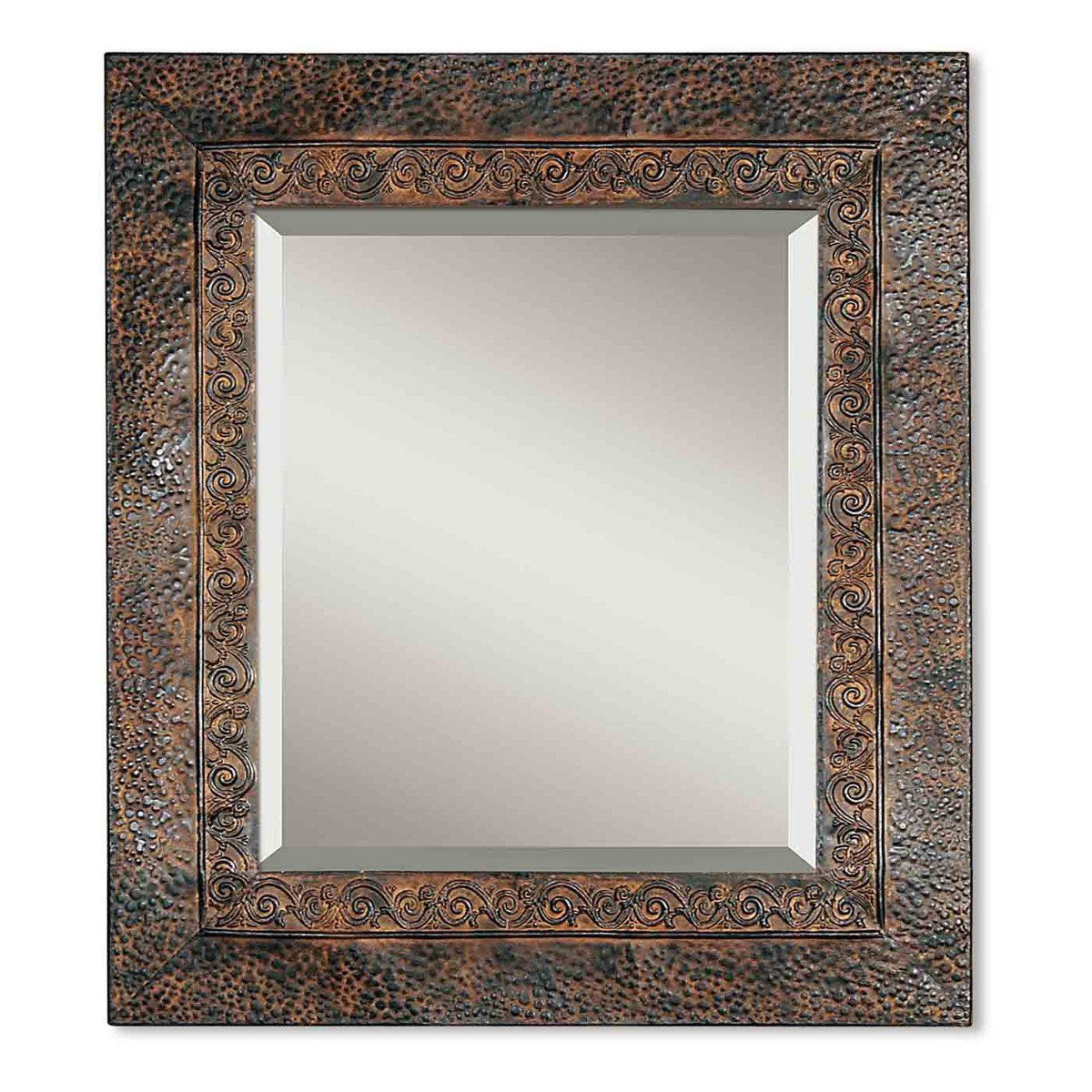 Jackson Rustic Metal Mirror (Gallery 4 of 20)