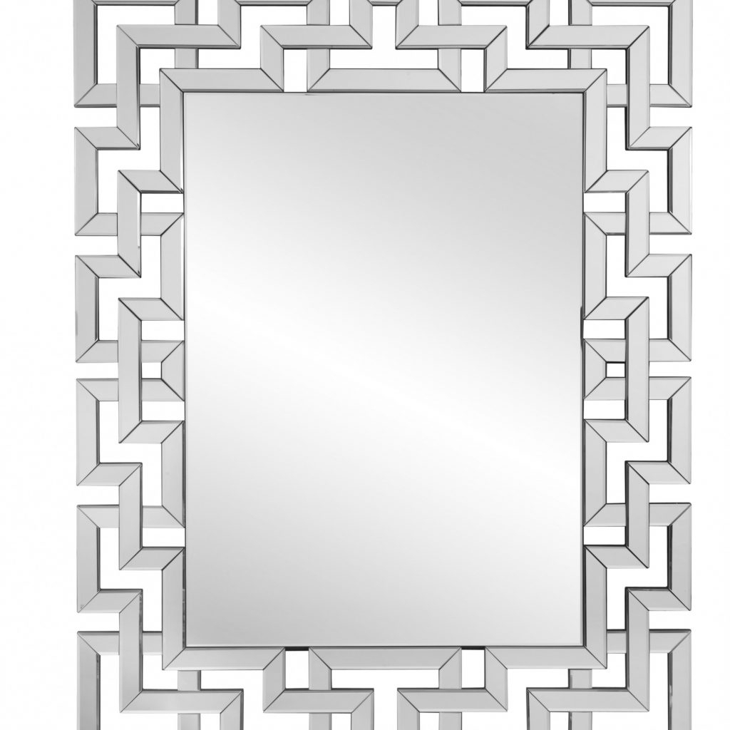 Janie Rectangular Wall Mirrors Throughout Favorite Rectangle Ornate Geometric Wall Mirror & Reviews (View 5 of 20)