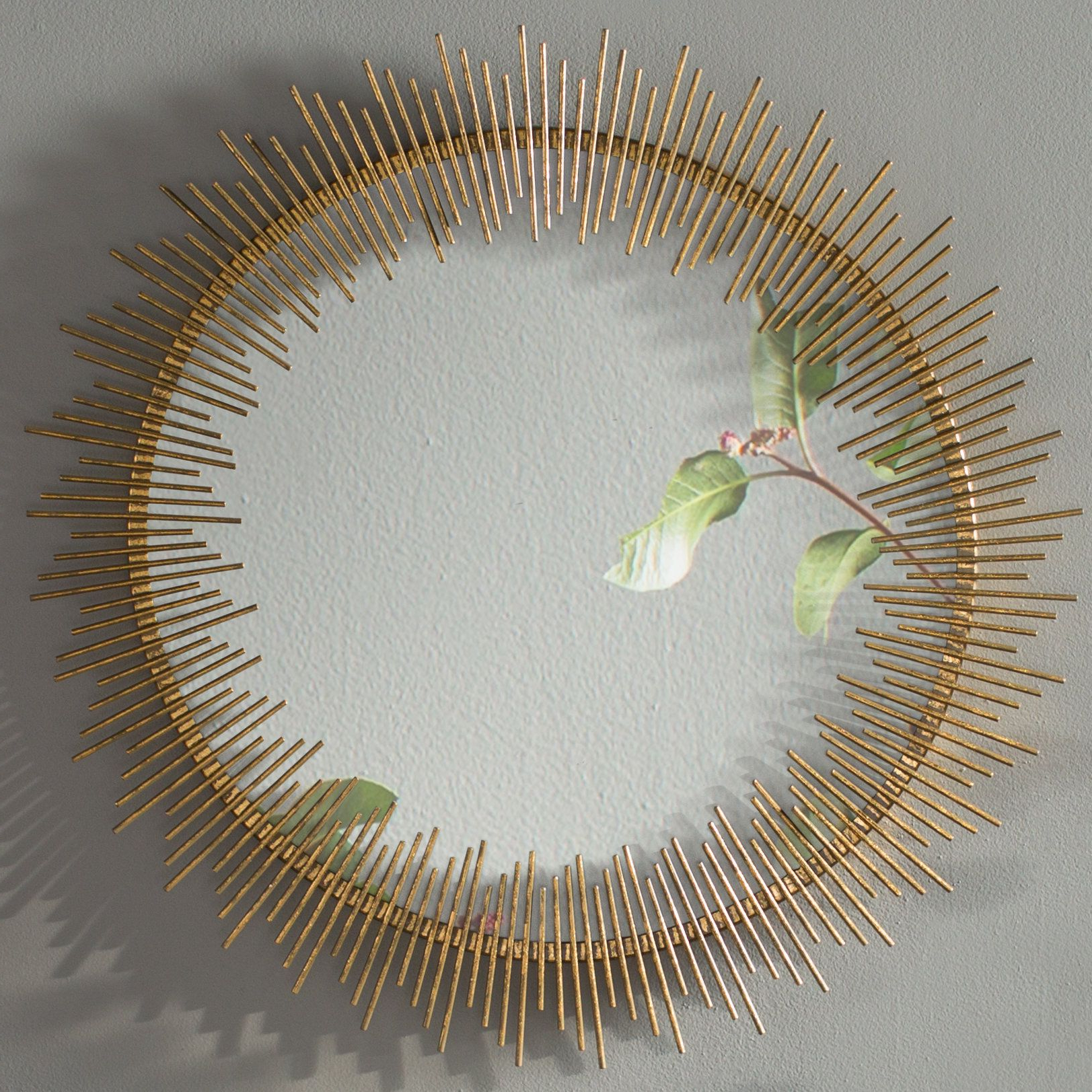 Jarrod Sunburst Accent Mirrors For Widely Used Maxim Round Sunray Circle Wall Mirror (View 7 of 20)