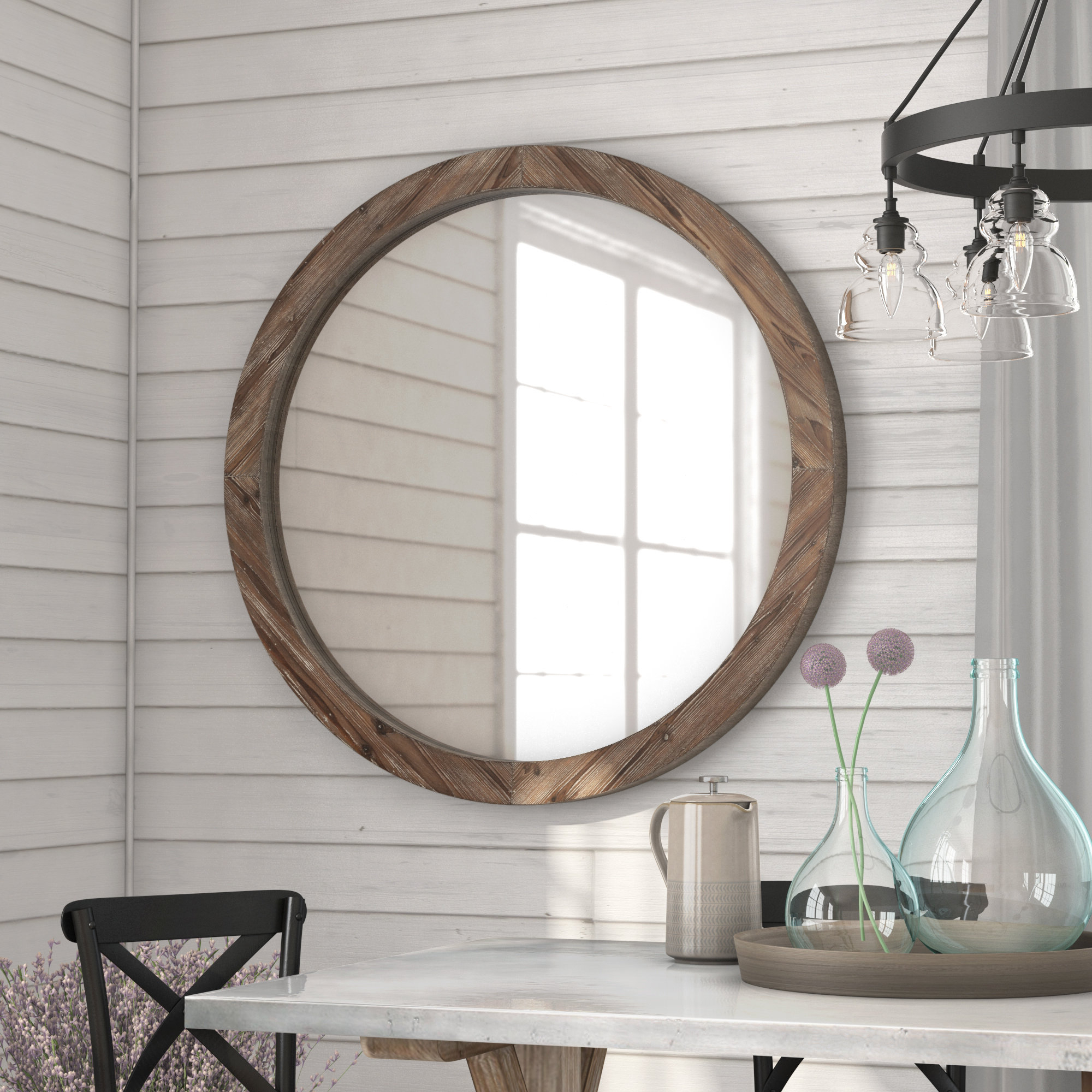 Jessie Wall Mirror Inside Trendy Large Rustic Wall Mirrors (Gallery 13 of 20)