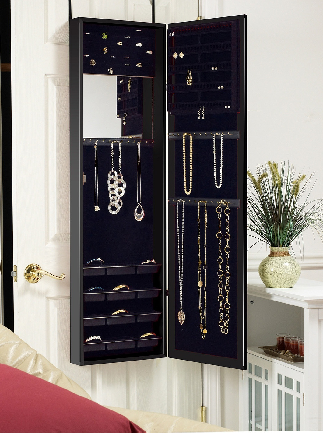 Jewelry Armoire Black (View 8 of 20)