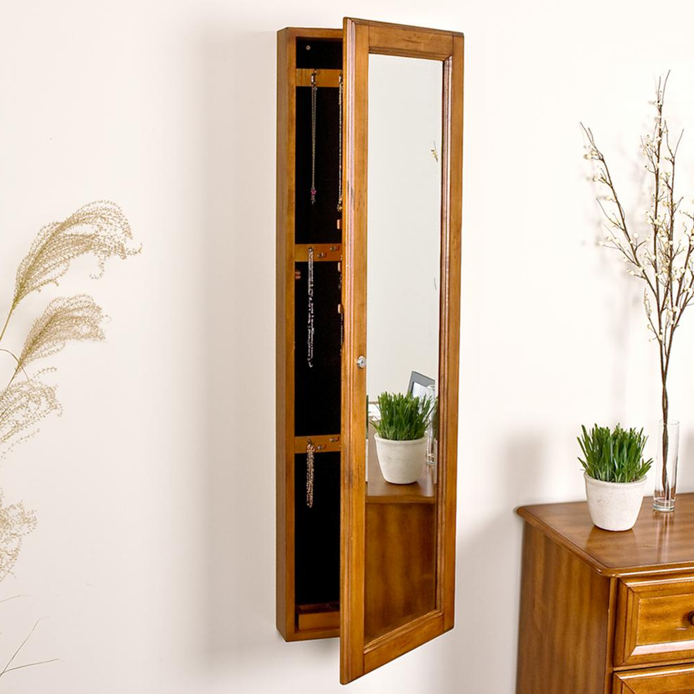 Jewelry Armoire Wall Mirrors With Regard To Famous Southern Enterprises 48 1/4 In. X 14 1/2 In (View 12 of 20)