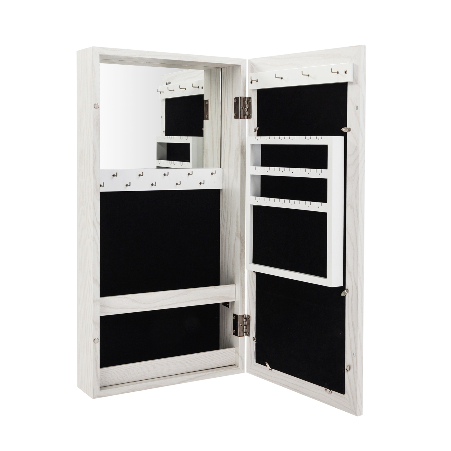 Jewelry Box Wall Mirrors Regarding Fashionable 62Cm Wall/door Mounted Makeup Jewelry Box Mirror Cabinet (View 7 of 20)