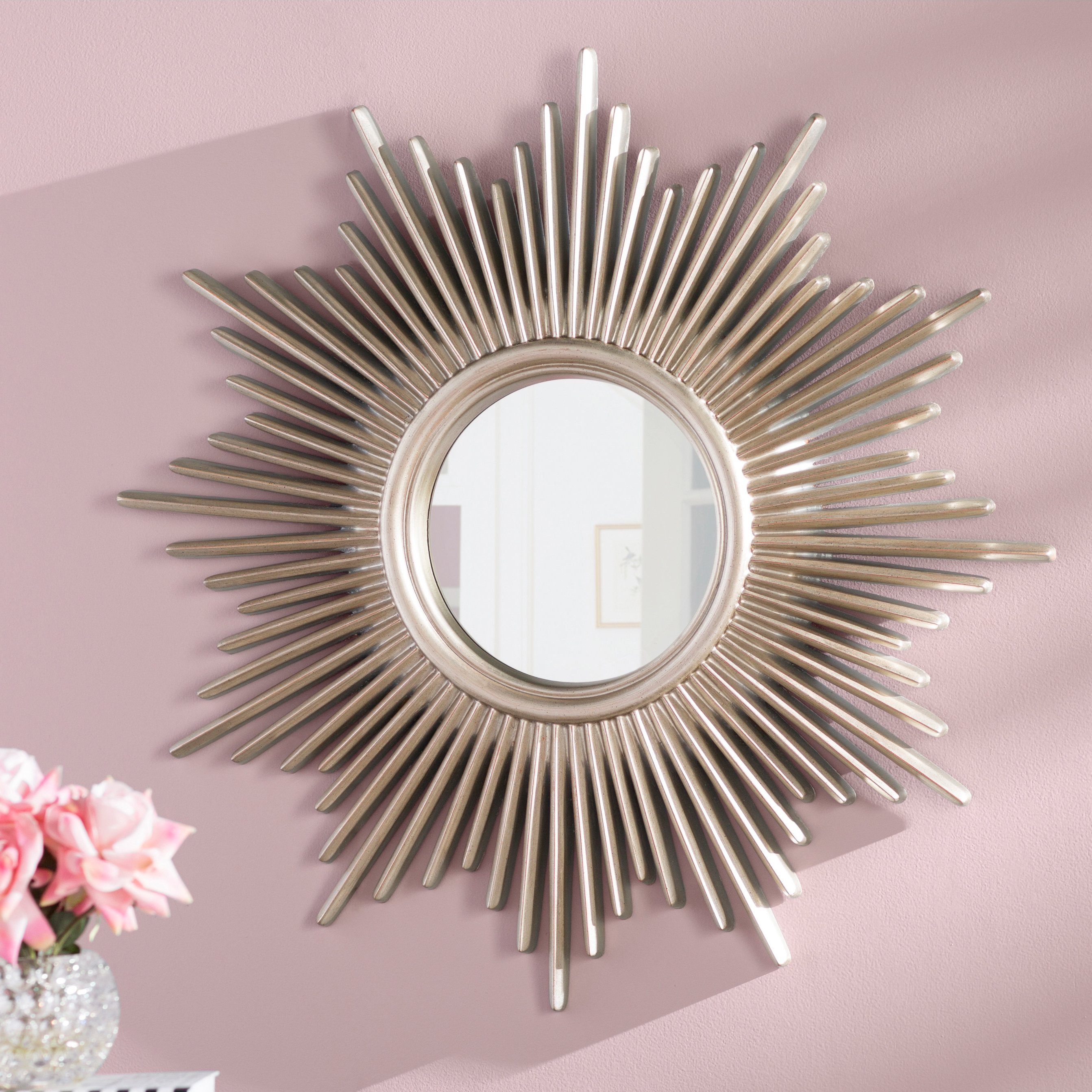 Josephson Starburst Glam Beveled Accent Wall Mirror In Best And Newest Perillo Burst Wood Accent Mirrors (Gallery 17 of 20)