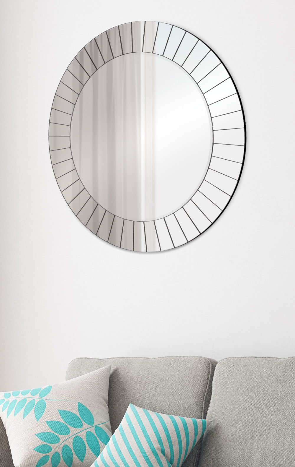 Josephson Starburst Glam Beveled Accent Wall Mirrors Regarding Favorite Henriette Frameless Accent Mirror (Gallery 11 of 20)