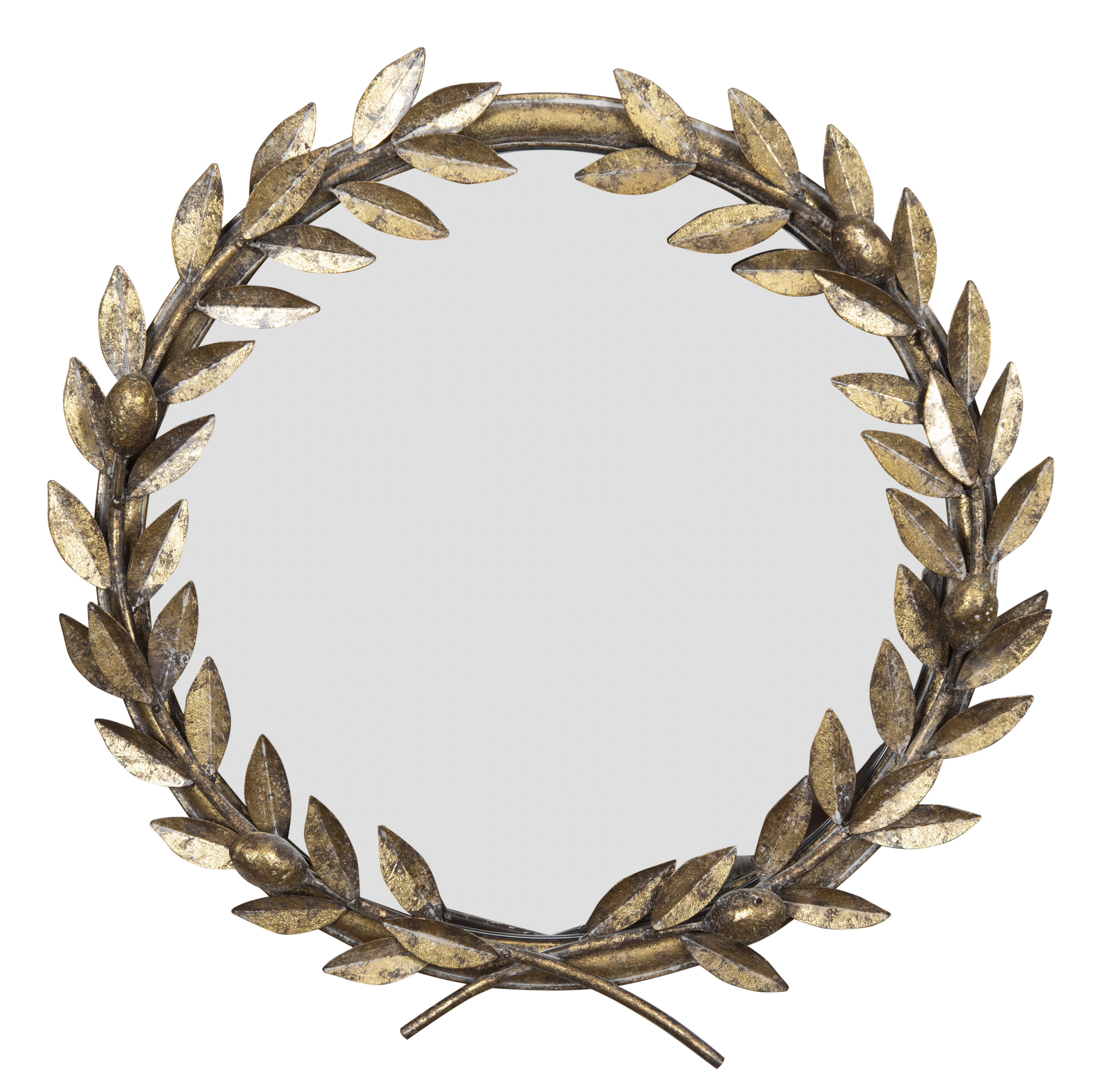 Kaelin Round Laurel Wreath Industrial Accent Mirror With Regard To Favorite Bracelet Traditional Accent Mirrors (View 9 of 20)