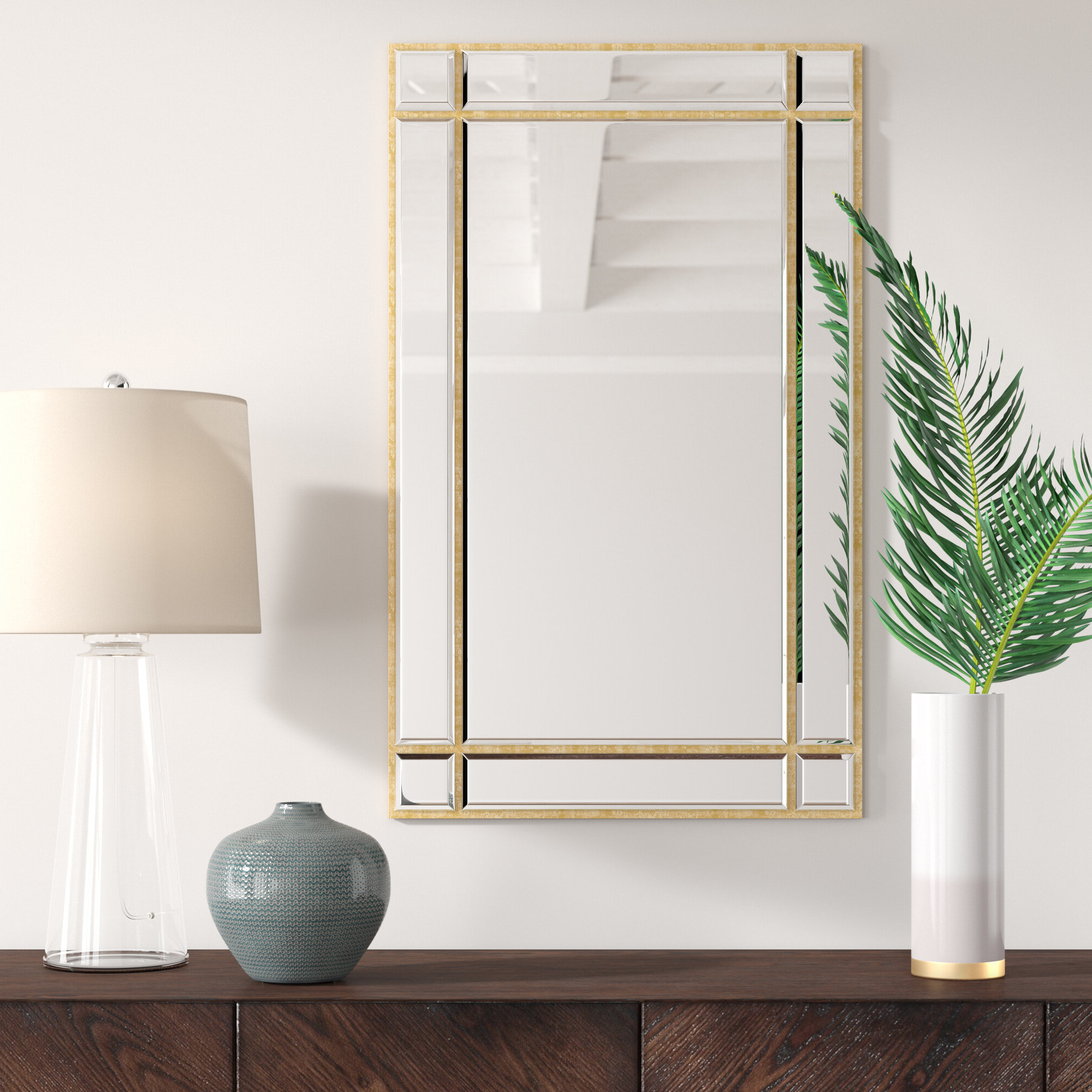 Kallas Accent Mirror Regarding Fashionable Koeller Industrial Metal Wall Mirrors (View 15 of 20)