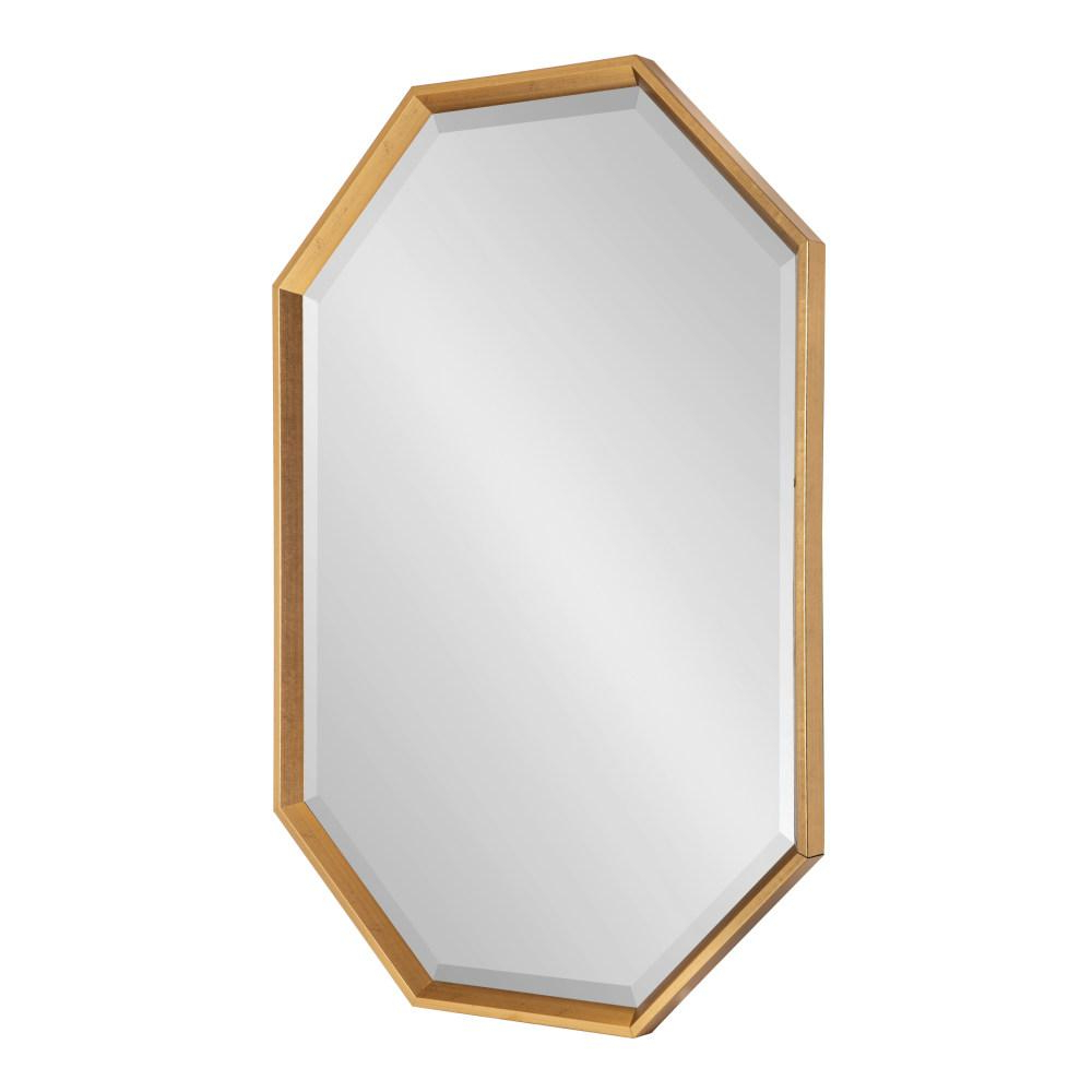 Kate And Laurel Calter Octagon Gold Plastic Wall Mirror 215368 – The With Regard To Preferred Octagon Wall Mirrors (Gallery 15 of 20)