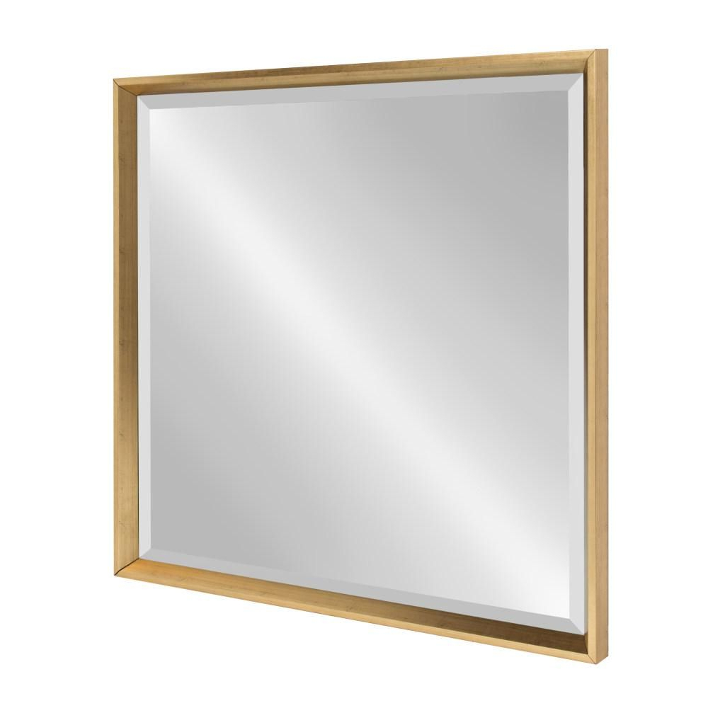 Kate And Laurel Calter Square Gold Accent Wall Mirror (View 14 of 20)