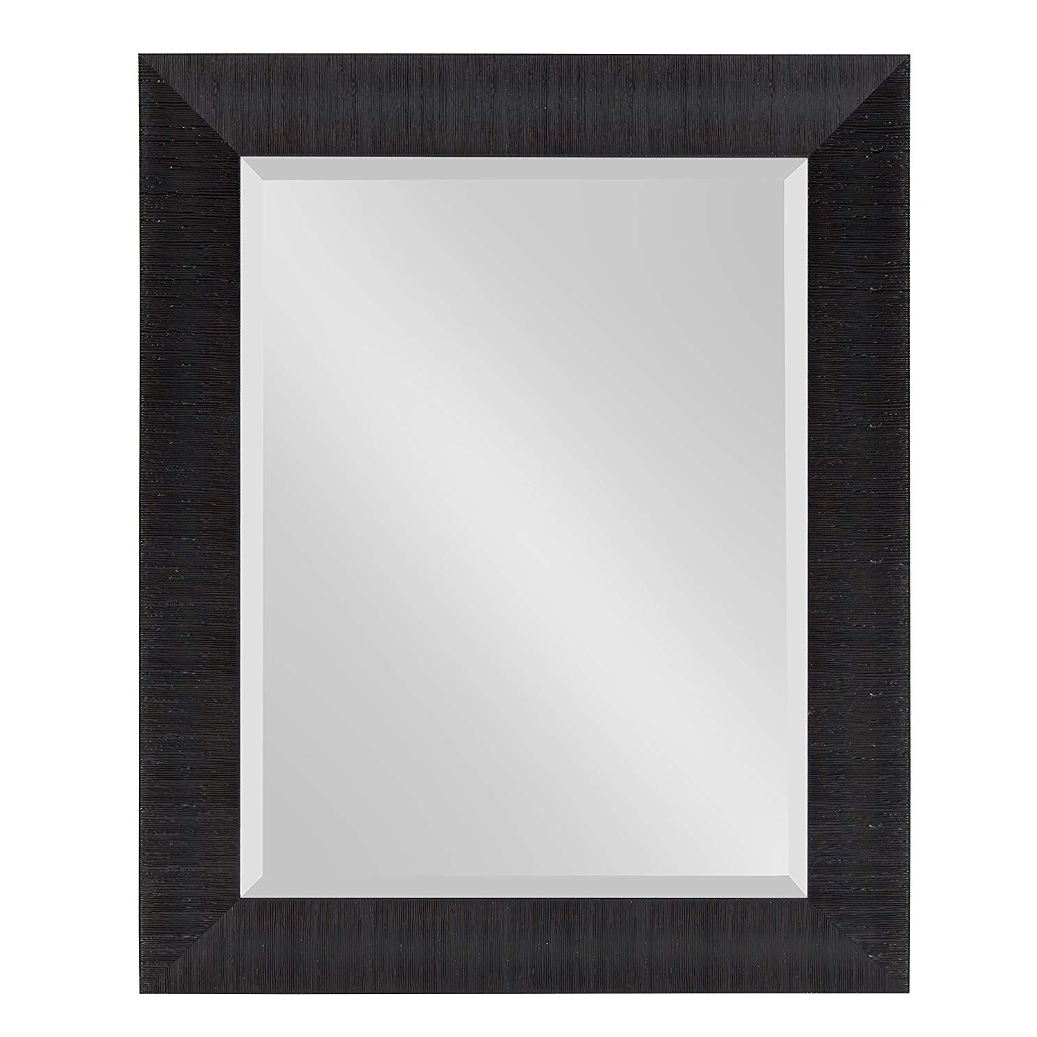 Kate And Laurel Reyna Framed Wall Mirror, 23.75X29.75 Black Pertaining To Best And Newest Black Rectangle Wall Mirrors (Gallery 20 of 20)