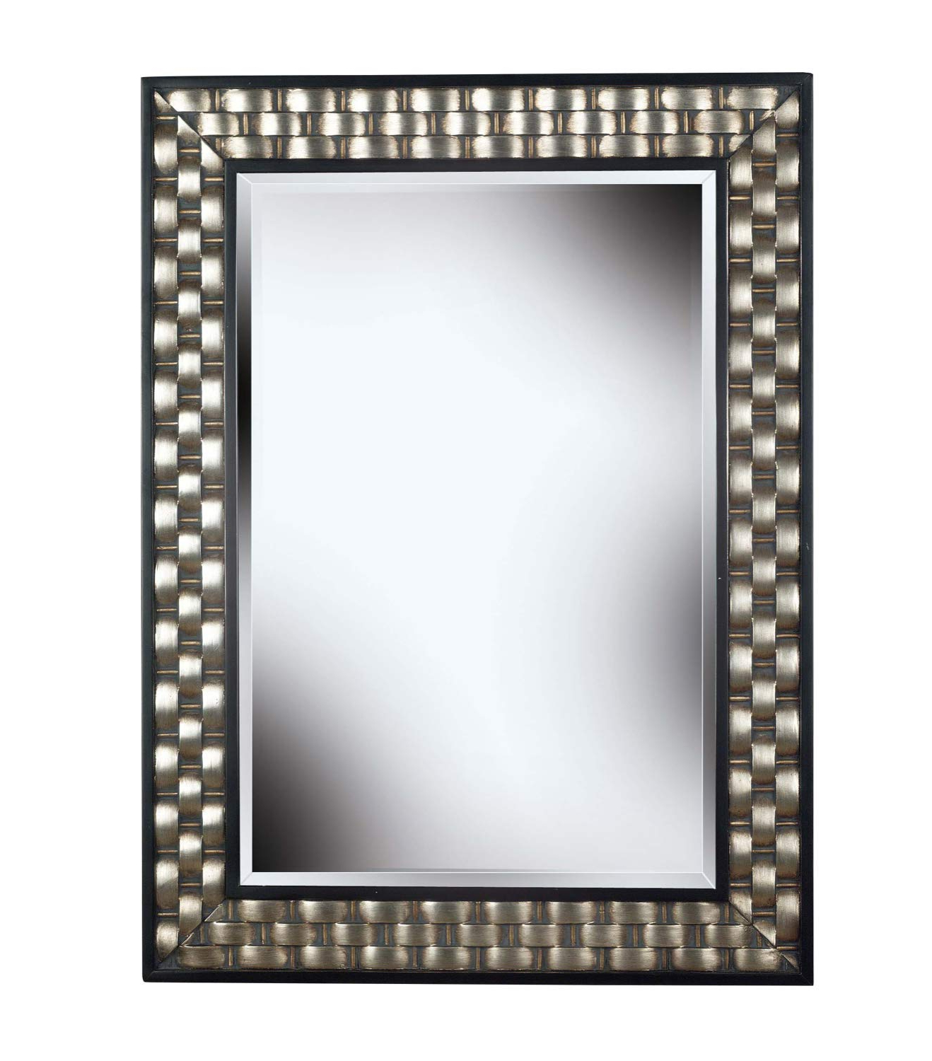 Kenroy Home Checker Rectangular Accent Wall Mirror 38 Inches28 Inches  Silver With Regard To Trendy Rectangle Accent Wall Mirrors (Gallery 7 of 20)