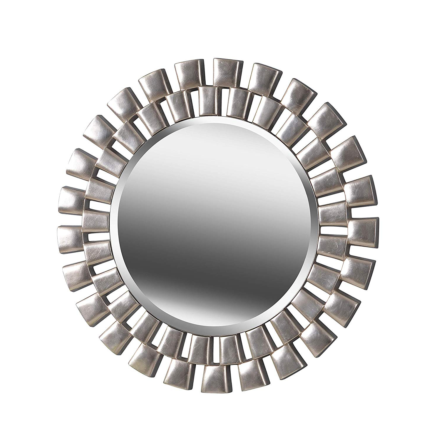 Kenroy Home Gilbert Wall Mirror With Silver Finish, 36 Inch Diameter With Regard To Widely Used Gilbert Wall Mirrors (View 3 of 20)