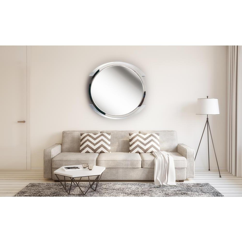 Kenroy Home Maiar Round Steel Vanity Wall Mirror 60234 – The Home Depot With Well Known Swagger Accent Wall Mirrors (View 18 of 20)