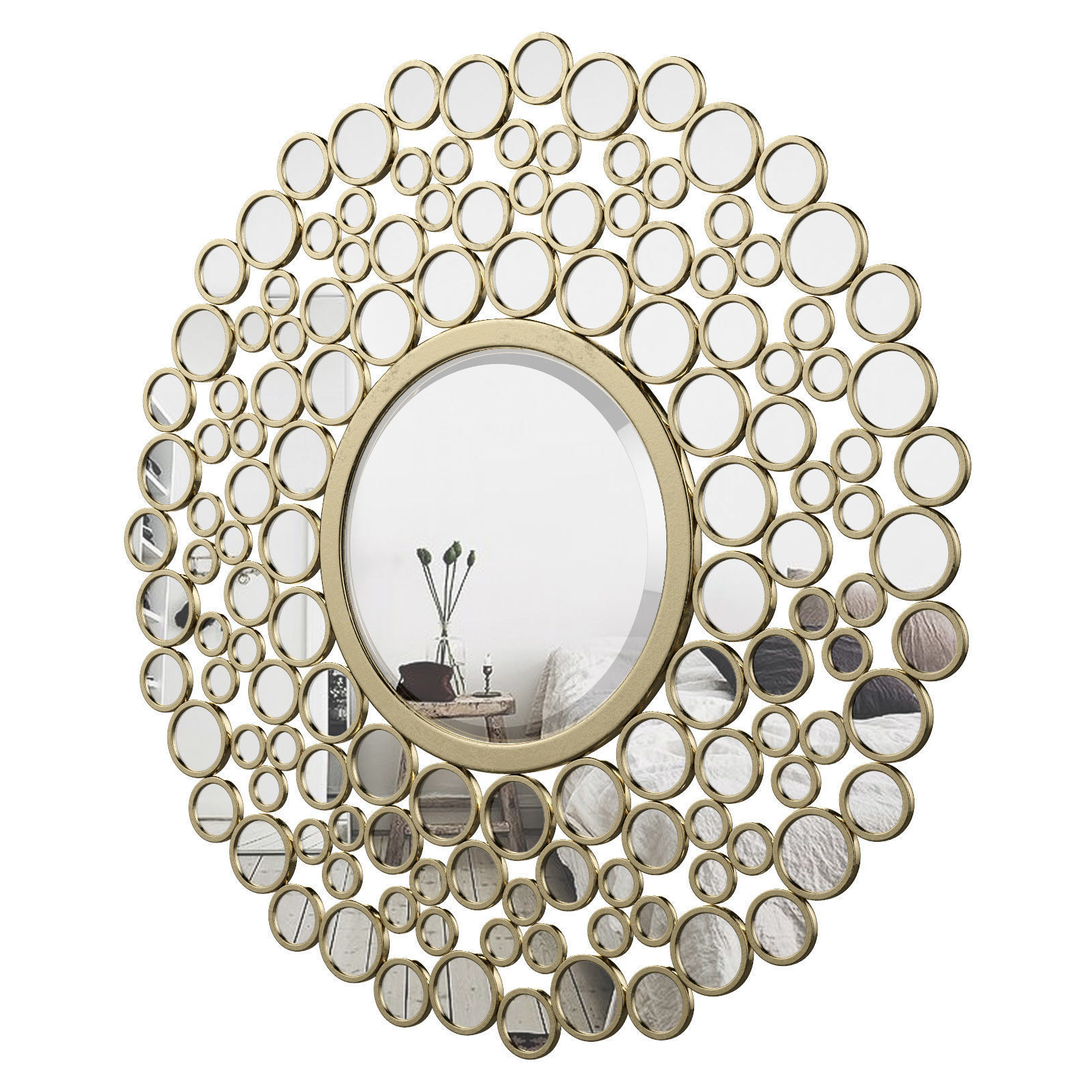 Kentwood Round Wall Mirror Vkgl1574 (Gallery 1 of 20)