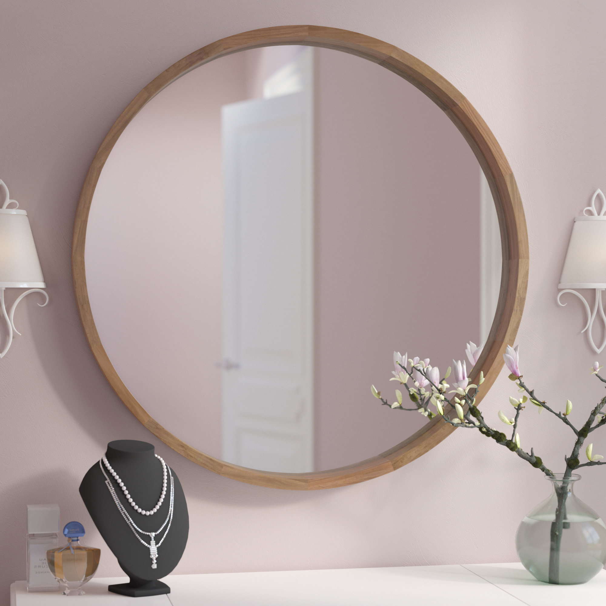 Kentwood Round Wall Mirrors Within Most Current Round Hanging Wall Mirror (View 13 of 20)