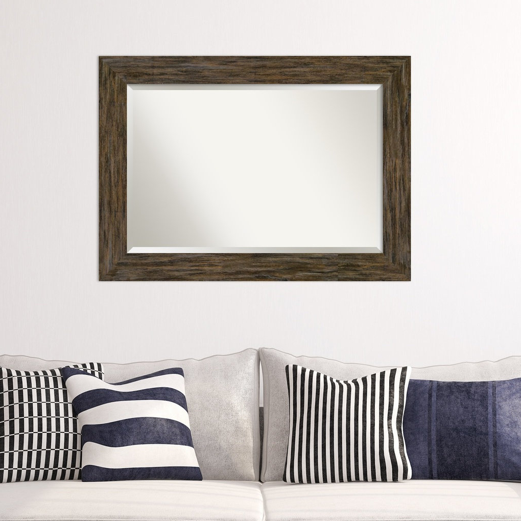 Keyla Beveled Brown Decorative Wall Mirror With Regard To Most Popular Decorative Wall Mirrors For Living Room (Gallery 16 of 20)