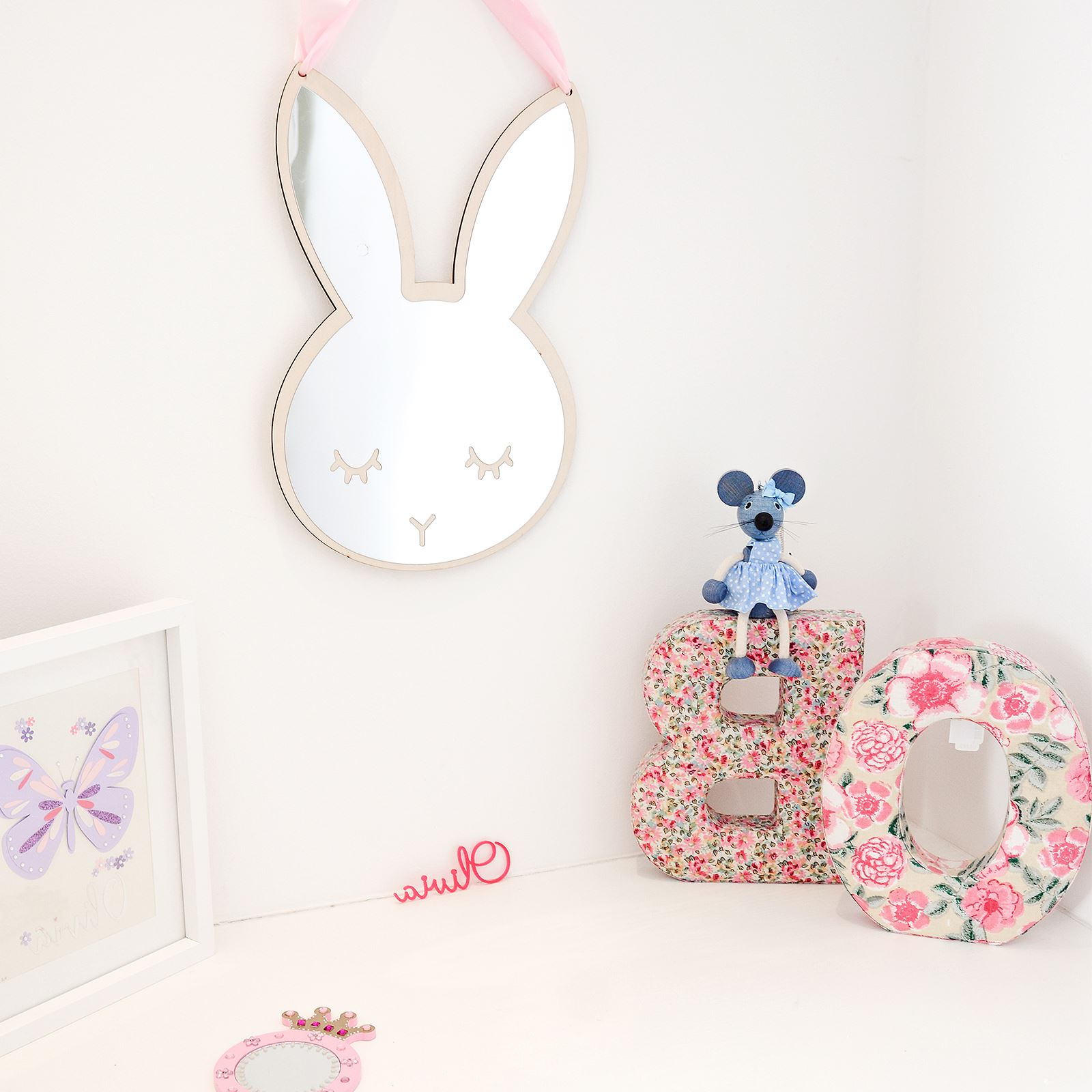 Kids Wall Mirrors With Popular Details About Children's Bedroom Bunny Acrylic Wall Mirror Kids Sticker  Decal Room Decor (View 13 of 20)