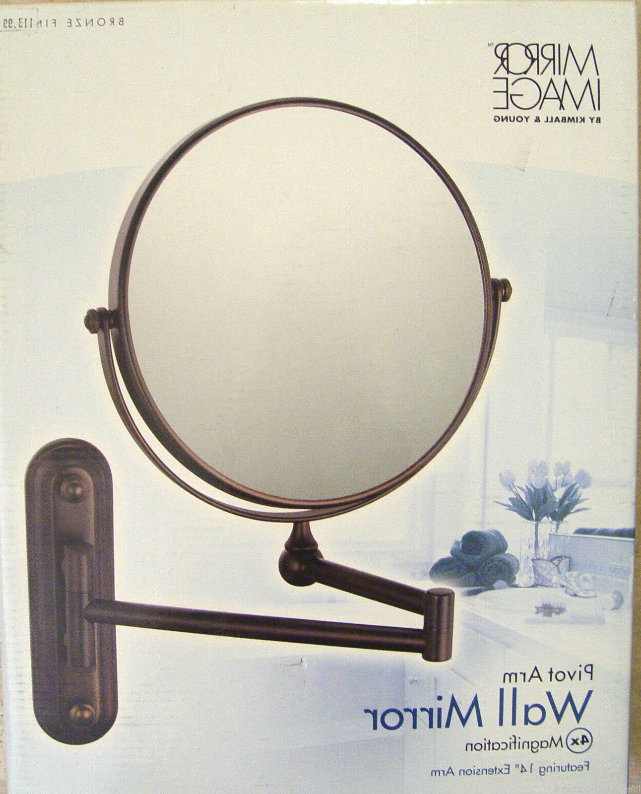 Kimball & Young Pivot 4X Arm Extension Wall Mirror Bronze 20694 731014000662 For Most Current Extension Arm Wall Mirrors (View 16 of 20)