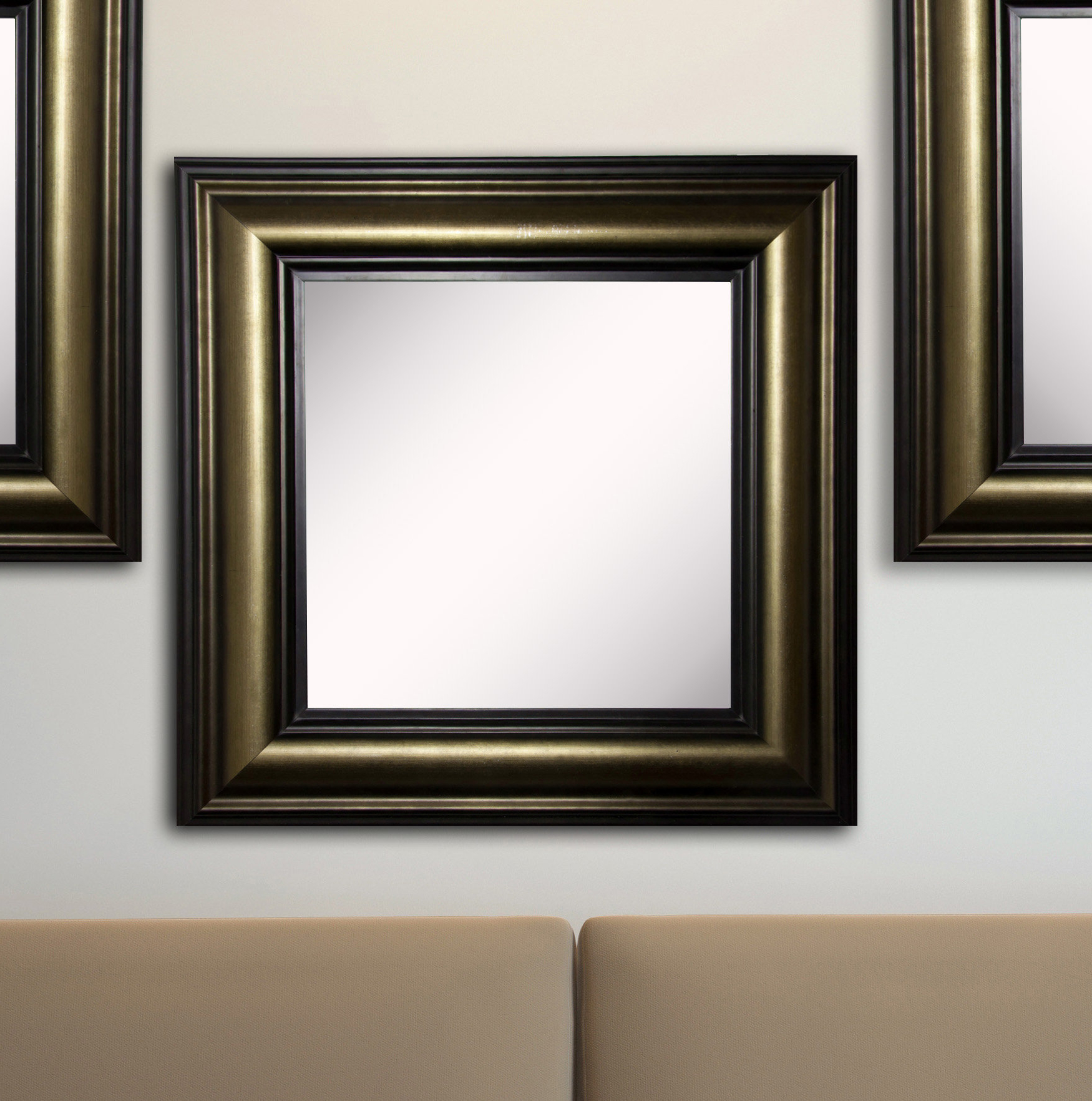 Kimzey Stepped Antiqued Wall Mirror Pertaining To Famous Antiqued Wall Mirrors (Gallery 16 of 20)