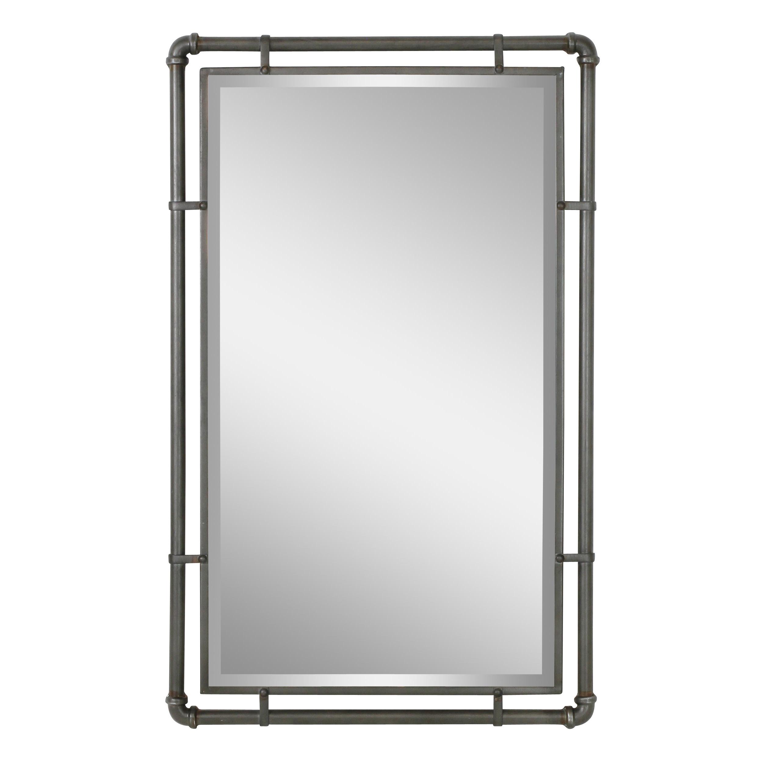 Koeller Industrial Metal Wall Mirrors Regarding Best And Newest Koeller Industrial Metal Wall Mirror (View 5 of 20)