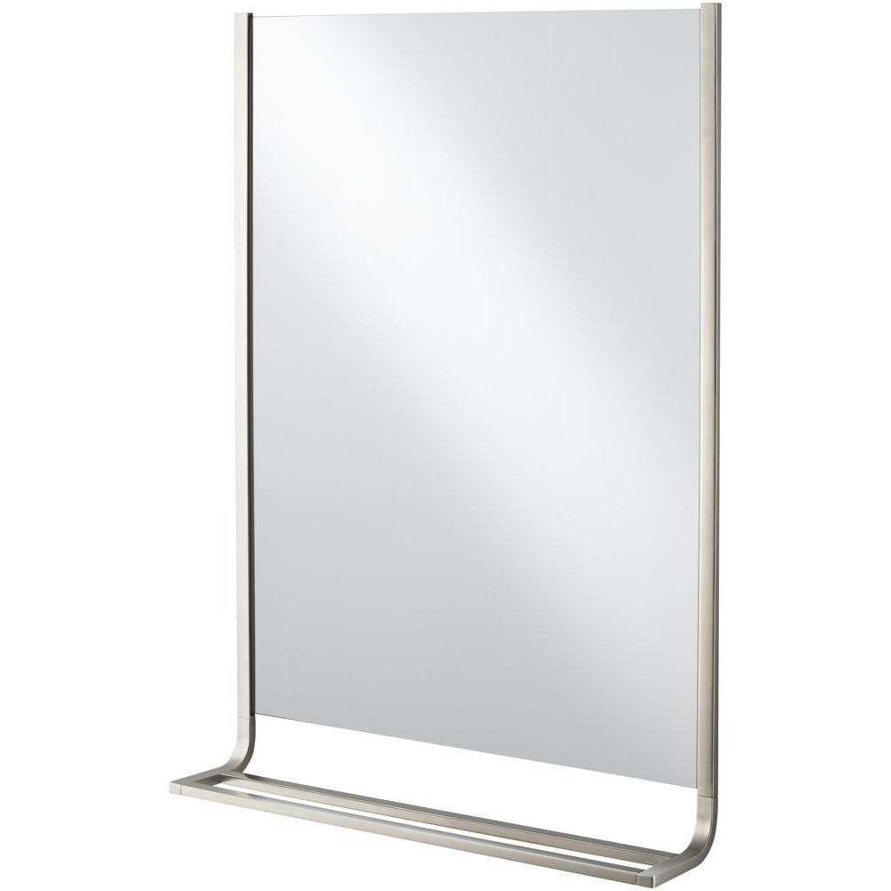 Kohler Loure 25 In. X 36 In. Single Wall Mirror And Towel Bar In Vibrant  Brushed Nickel In Trendy Expensive Wall Mirrors (Gallery 19 of 20)