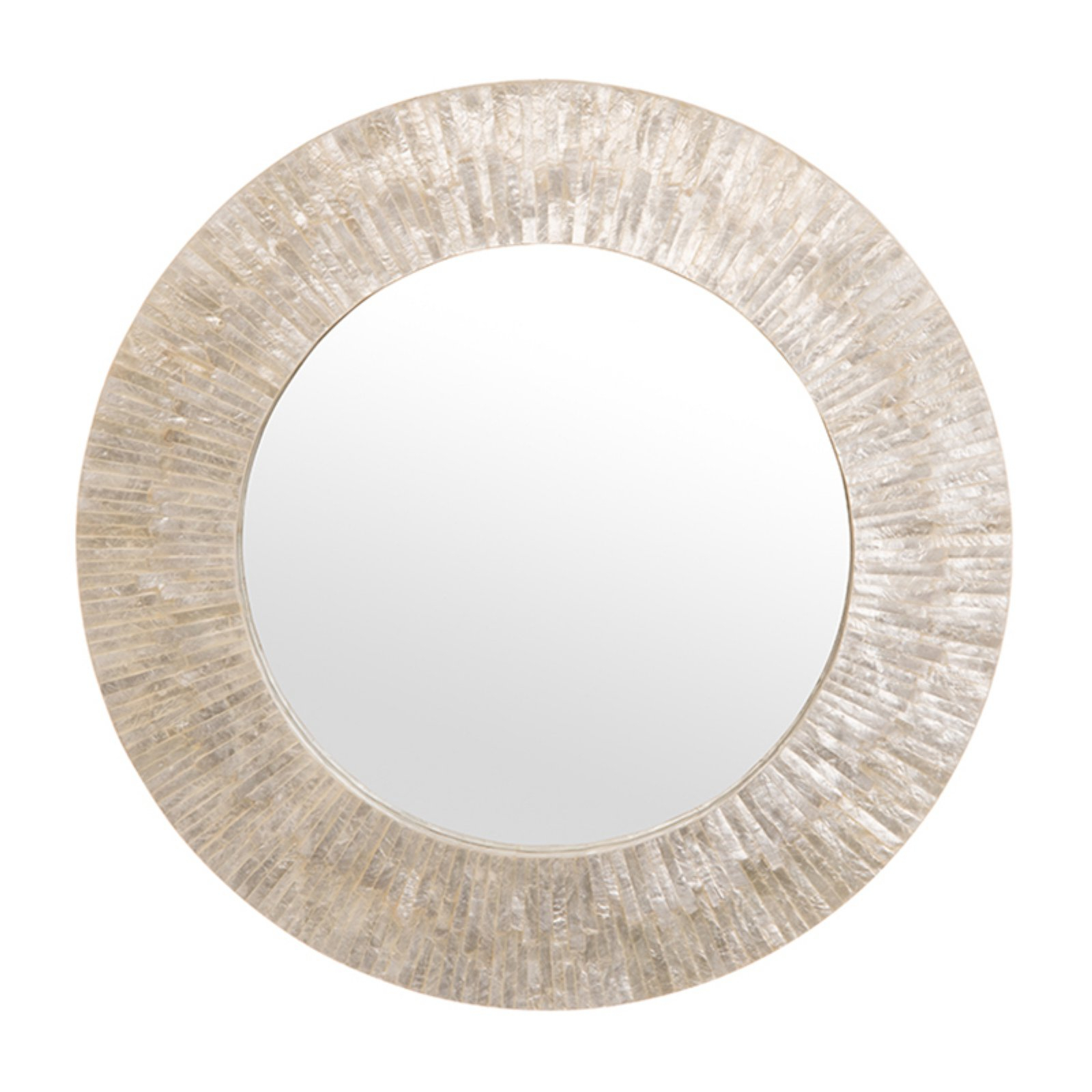 Kouboo Round Capiz Seashell Sunray Wall Mirror – 24W X 24H Within Most Current Sun Ray Wall Mirrors (View 7 of 20)