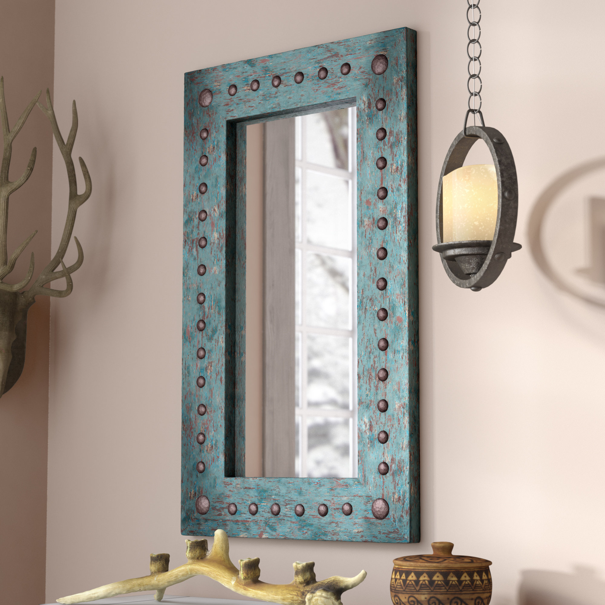 Lajoie Rustic Accent Mirror With Popular Hussain Tile Accent Wall Mirrors (Gallery 5 of 20)