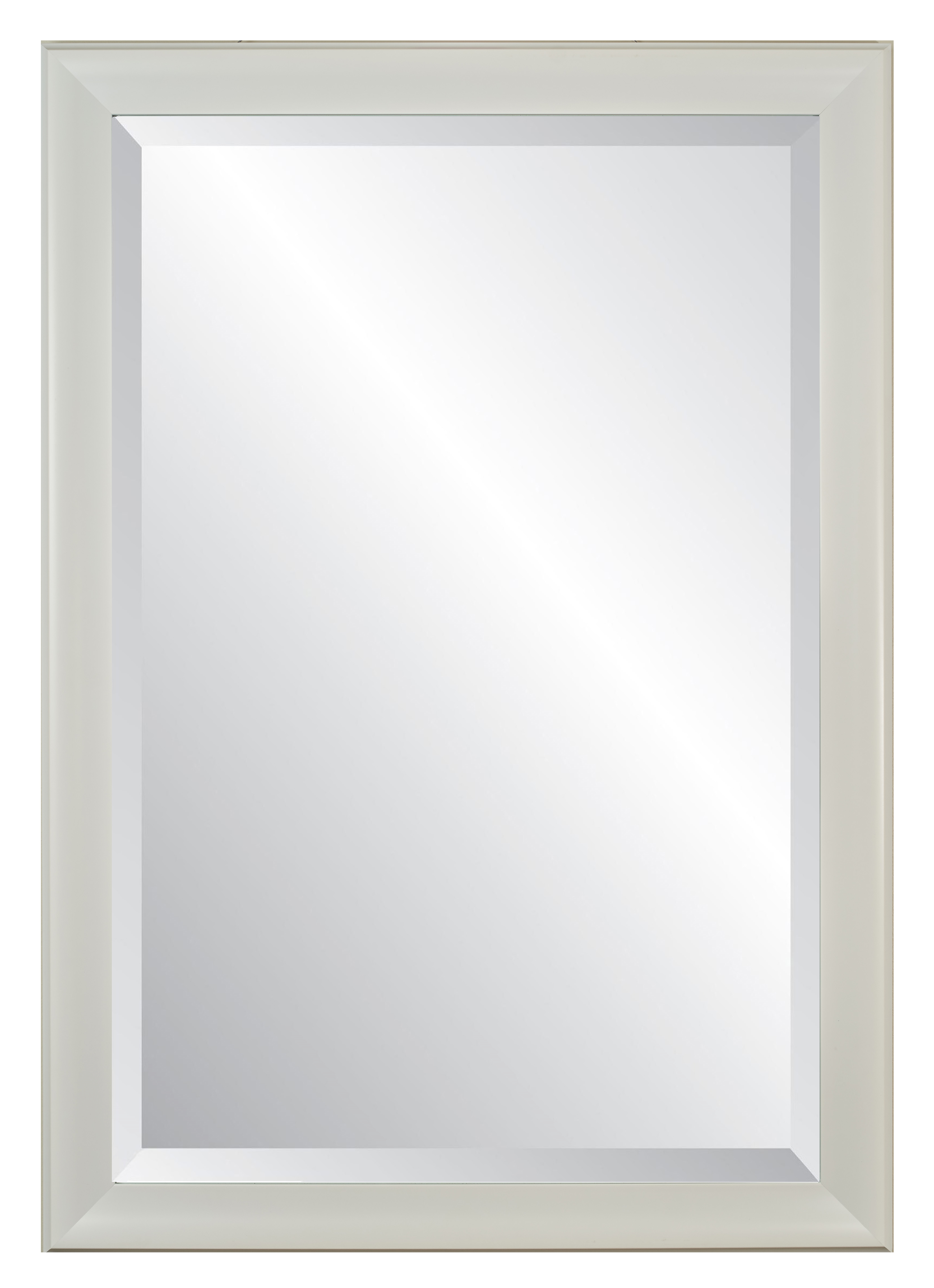 "Lakeside White Frame, Beveled Wall Mirror 28"" X 40"" Intended For Most Up To Date White Framed Wall Mirrors (View 2 of 20)"