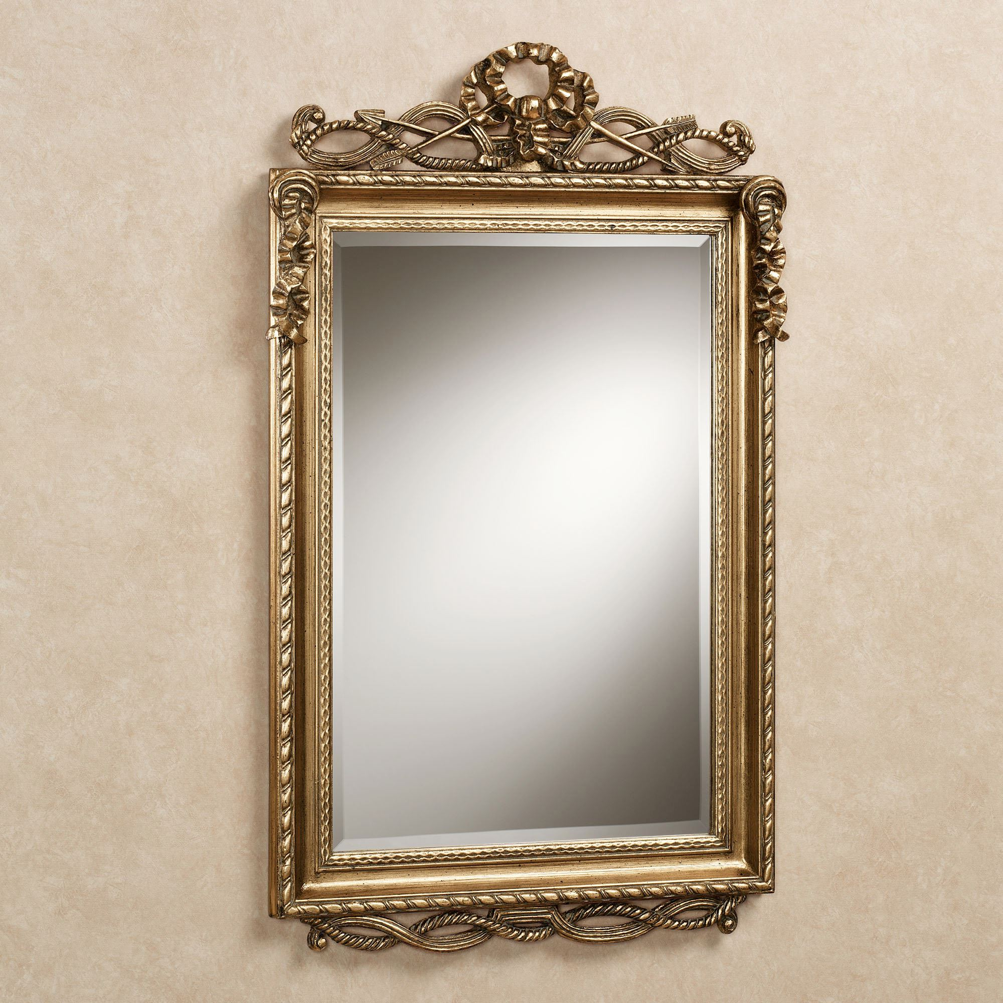 Lancaster Twist Design Rectangular Wall Mirror With Most Recently Released Traditional Metal Wall Mirrors (Gallery 9 of 20)