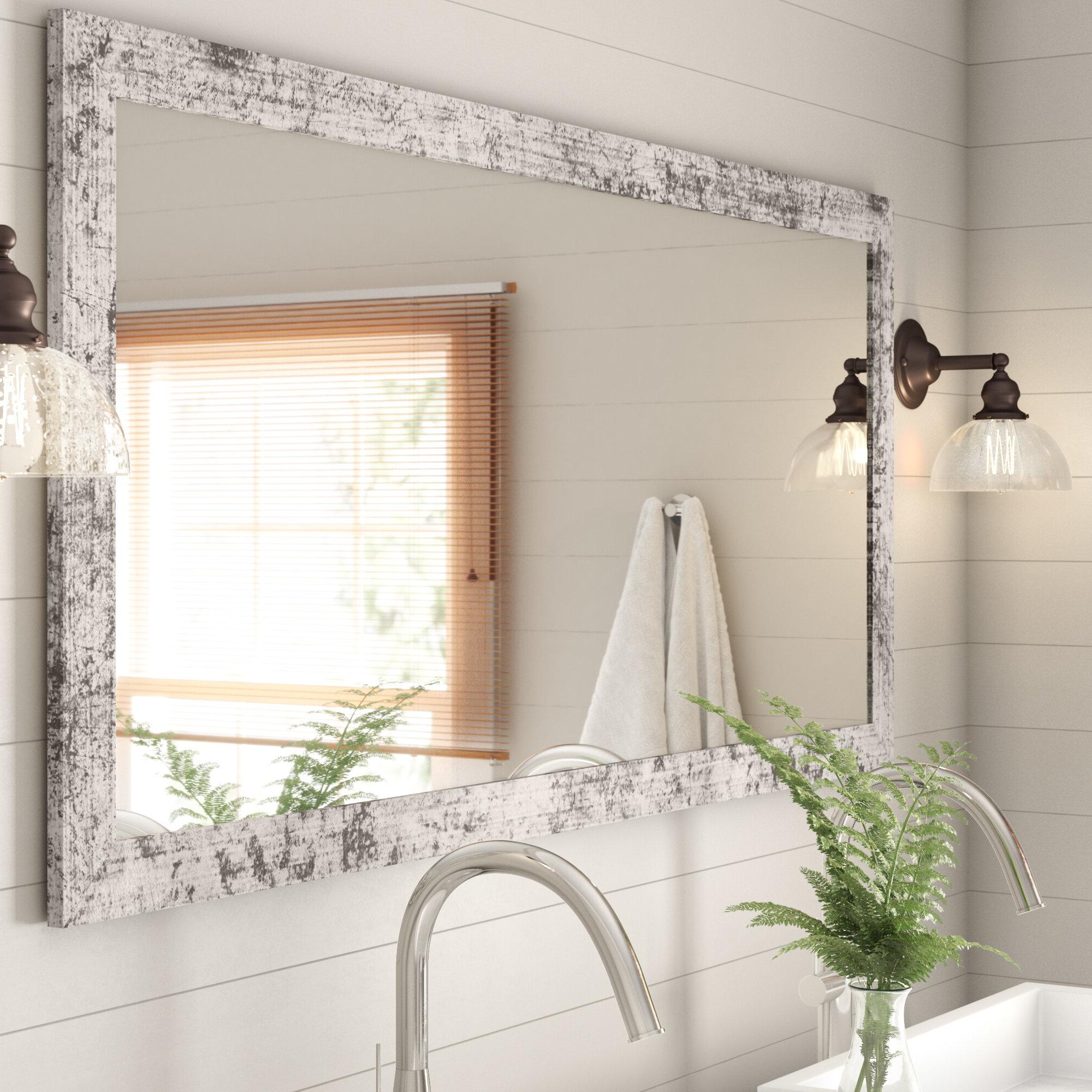 Landover Rustic Distressed Bathroom/vanity Mirrors With Popular Distressed Bathroom Vanity Mirror – Home Decor Photos Gallery (View 4 of 20)