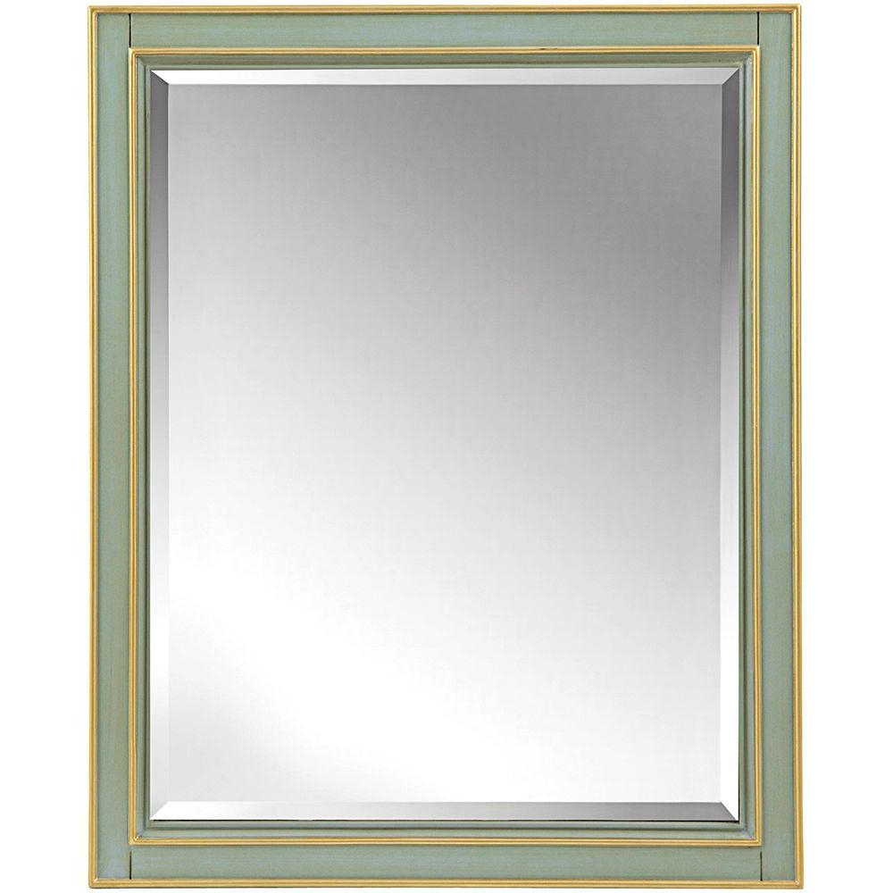 Landscape Wall Mirrors For Latest Home Decorators Collection Disnmore 26 In. W X 32 In. H Single Framed Mirror In Gilded Green (Gallery 8 of 20)
