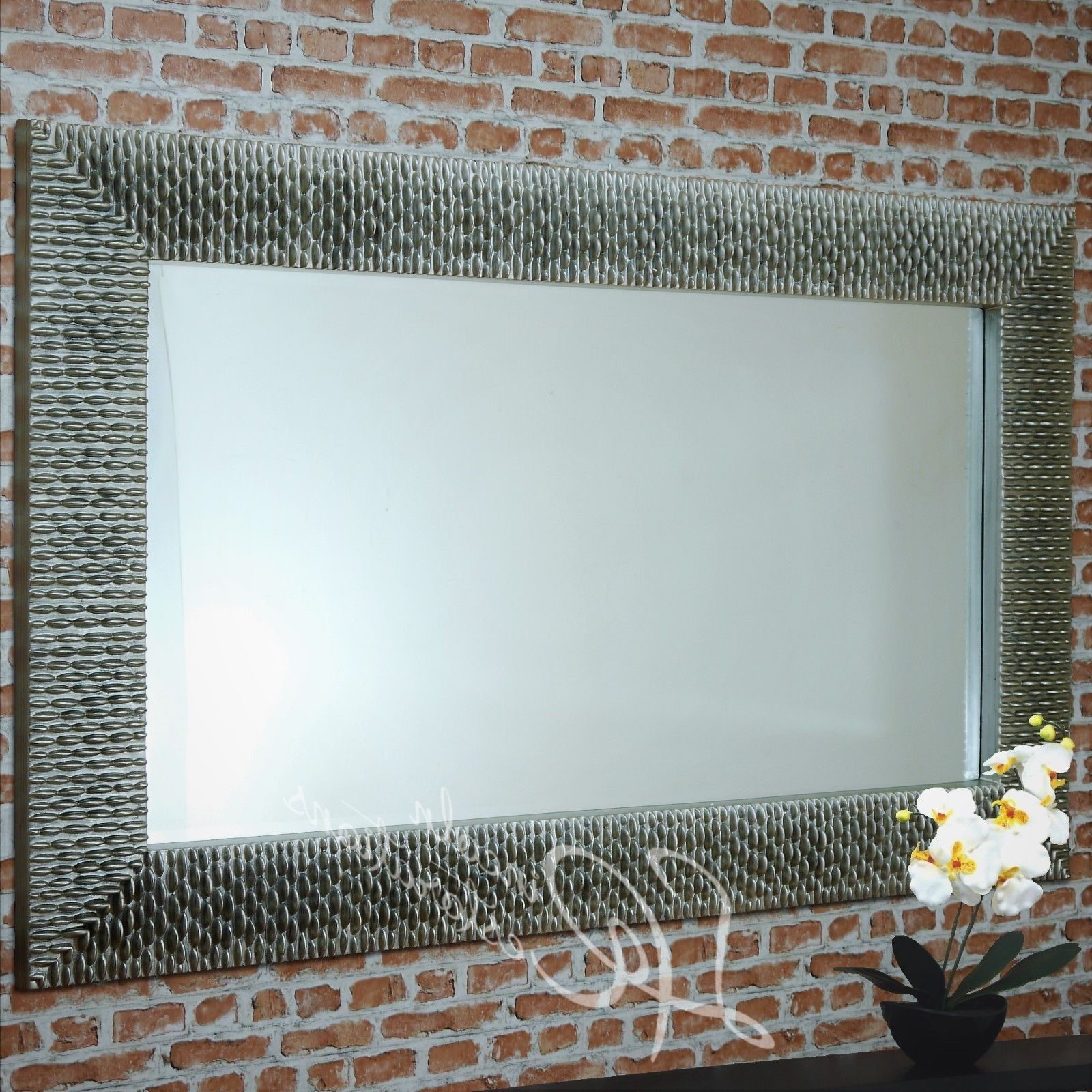 Landscape Wall Mirrors In Popular Rv Astley Ares Large Champagne Silver Wall Hanging Mirror (Gallery 12 of 20)