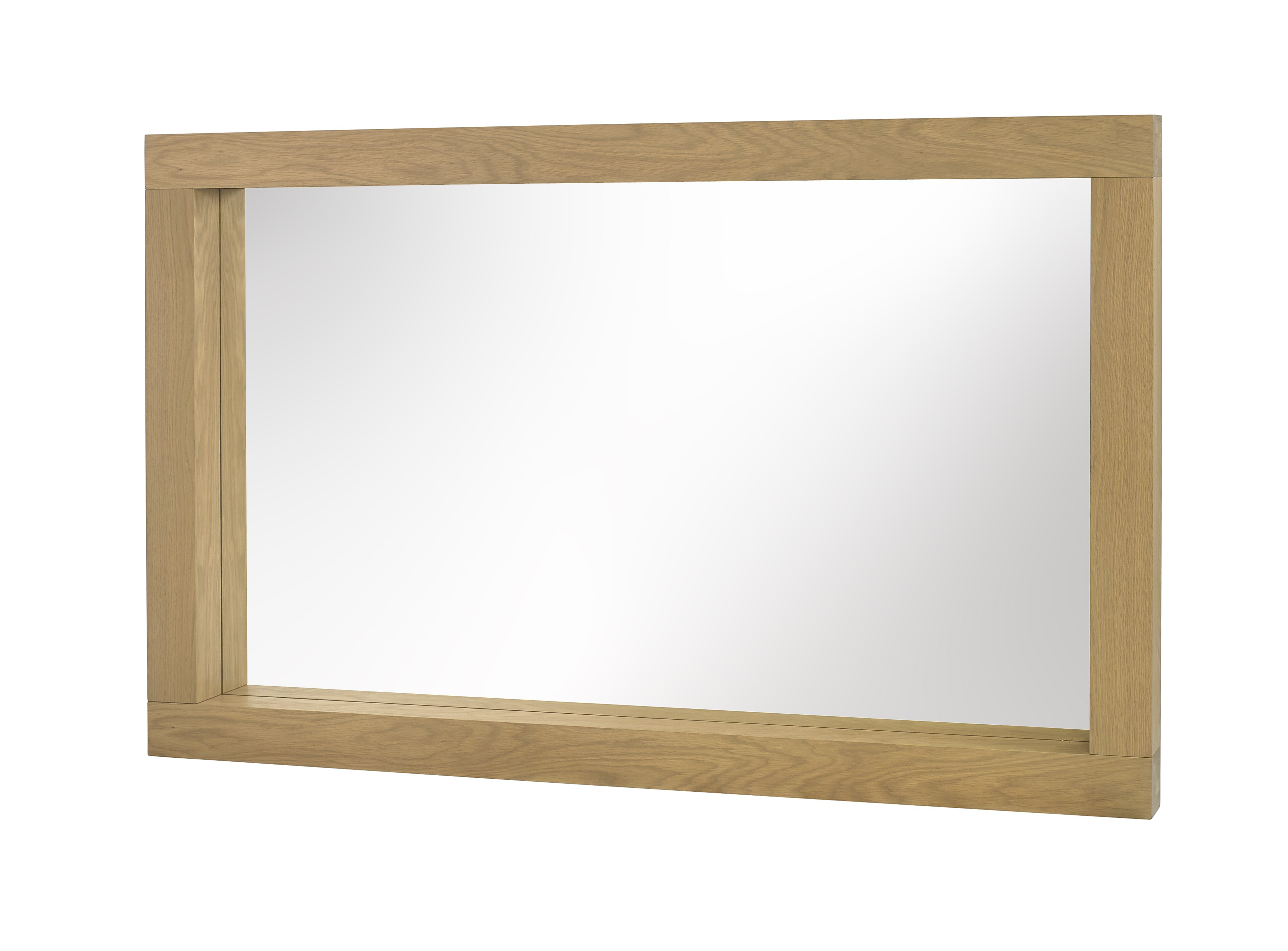 Landscape Wall Mirrors Throughout Best And Newest Turin Light Oak Wall Mirror (Gallery 10 of 20)