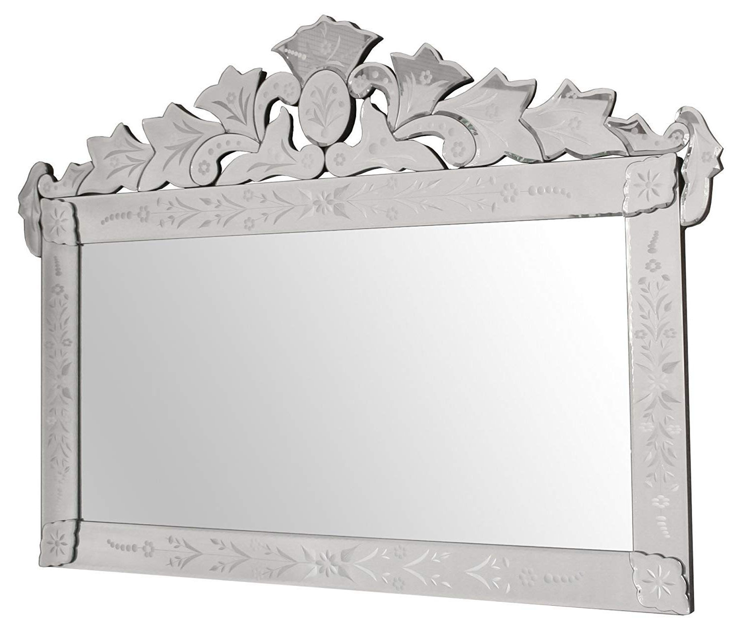 Landscape Wall Mirrors Throughout Well Known Febland Clear Venetian Landscape Wall Mirror, Mirrored (Gallery 16 of 20)