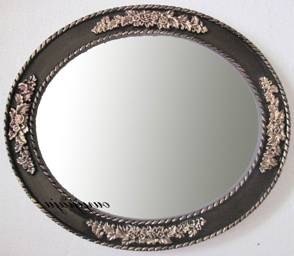 Large Big Decorative Cosmetic Antique Oval Wall Mirror With Frame With 2020 Antique Oval Wall Mirrors (View 9 of 20)