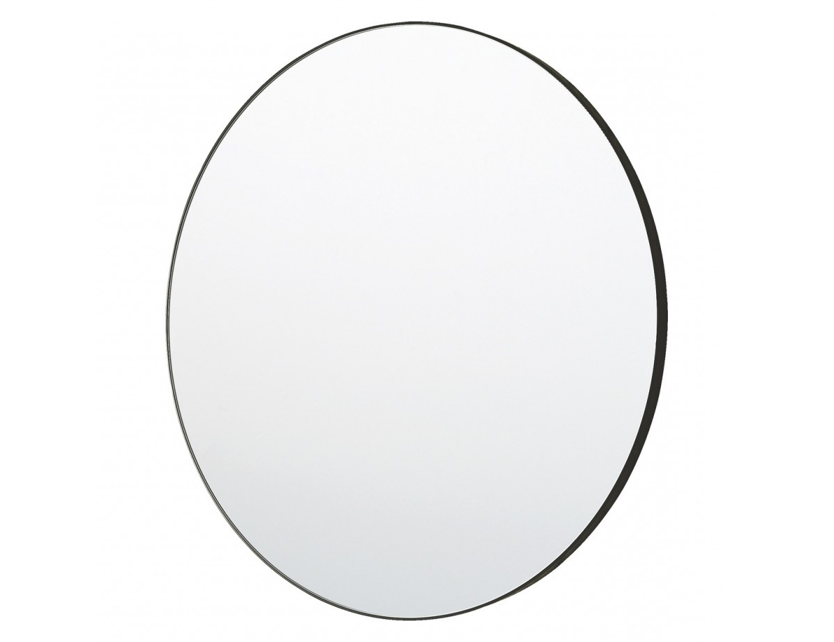 Large Black Framed Wall Mirrors With Regard To Popular Patsy D82cm Large Round Black Wall Mirror (View 14 of 20)