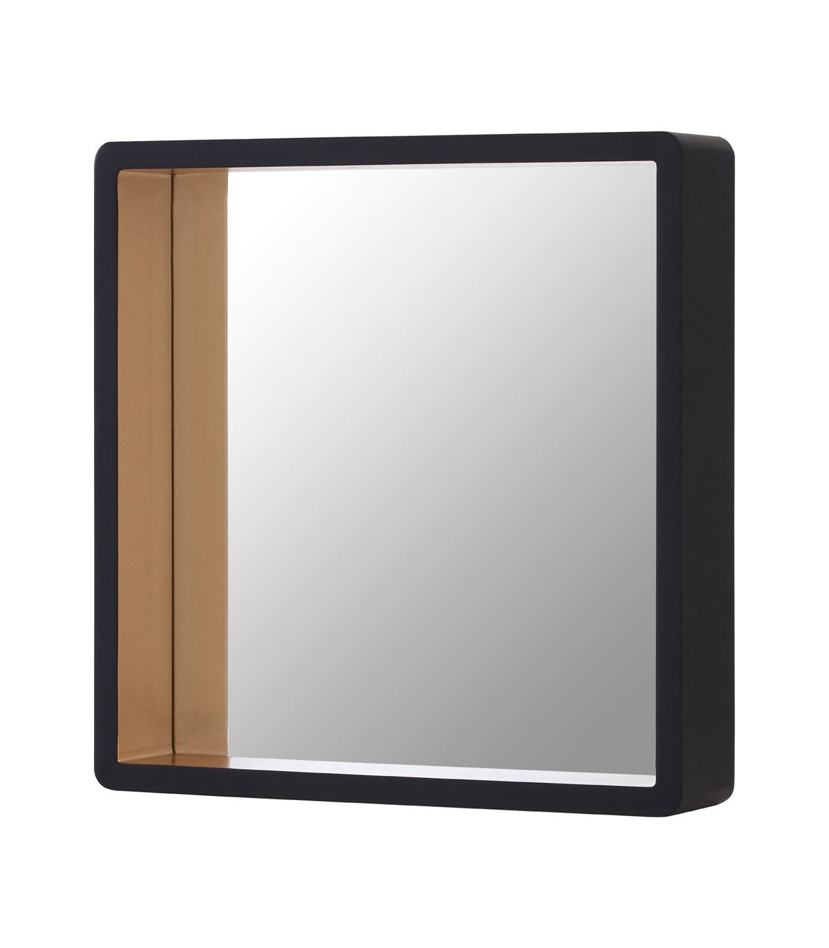 Large Black Wall Mirrors Regarding 2019 Large Black Wall Mirror With Gold Edge (View 14 of 20)