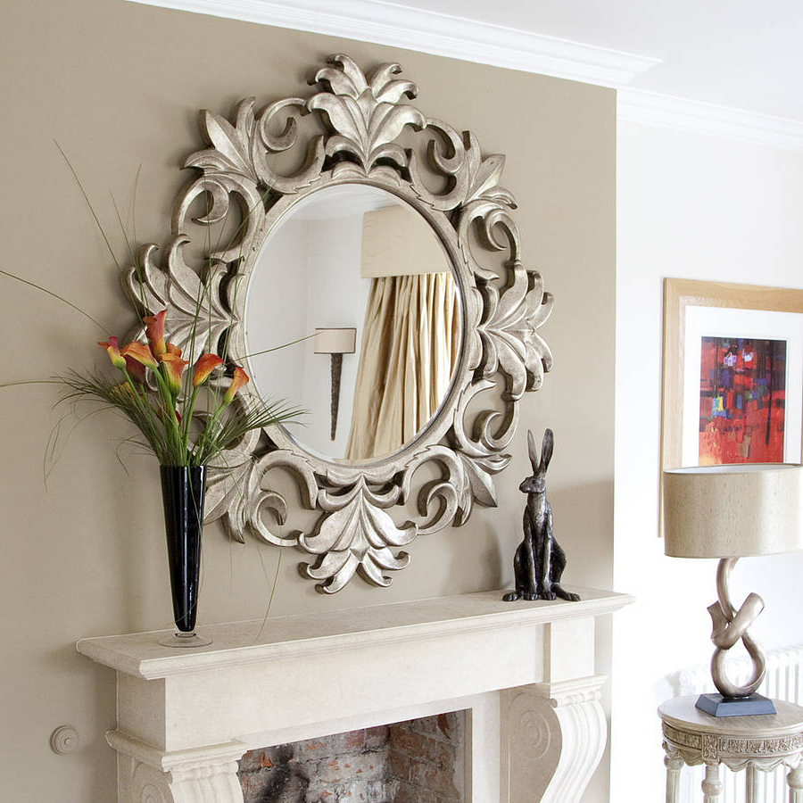 Large Cheap Wall Mirrors Intended For Most Recent Living Room Beehive Cluster Wall Mirrors Large Cheap M44 On (View 11 of 20)