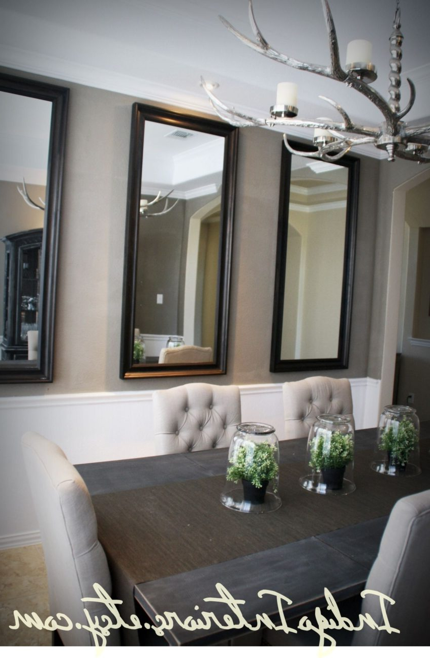 Large Cheap Wall Mirrors Within Widely Used Living Room Ideas: Make Statement In The Dining Room With (Gallery 19 of 20)