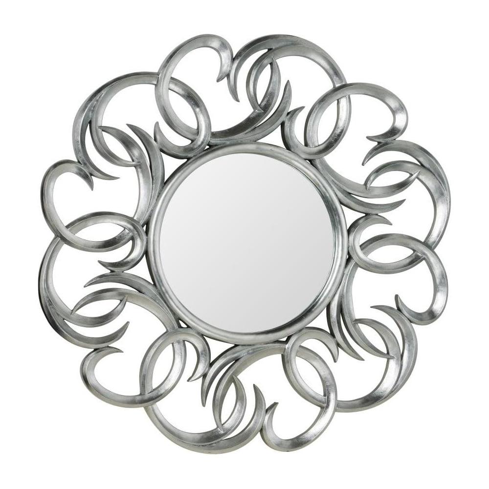 Large Circular Silver Swirl Wall Mirror Inside Most Popular Swirl Wall Mirrors (View 7 of 20)