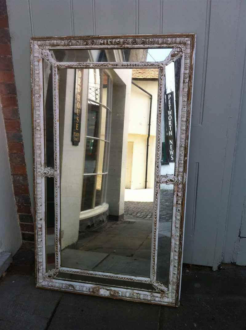 Large Early 19Th Century French Original Painted Distressed For Most Current Unusual Large Wall Mirrors (Gallery 12 of 20)