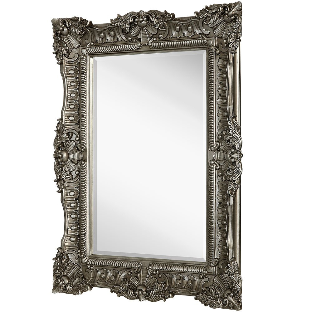 Large Elegant Wall Mirrors Pertaining To Widely Used Hamilton Hills Large Ornate Antique Silver Baroque Frame Mirror (Gallery 4 of 20)