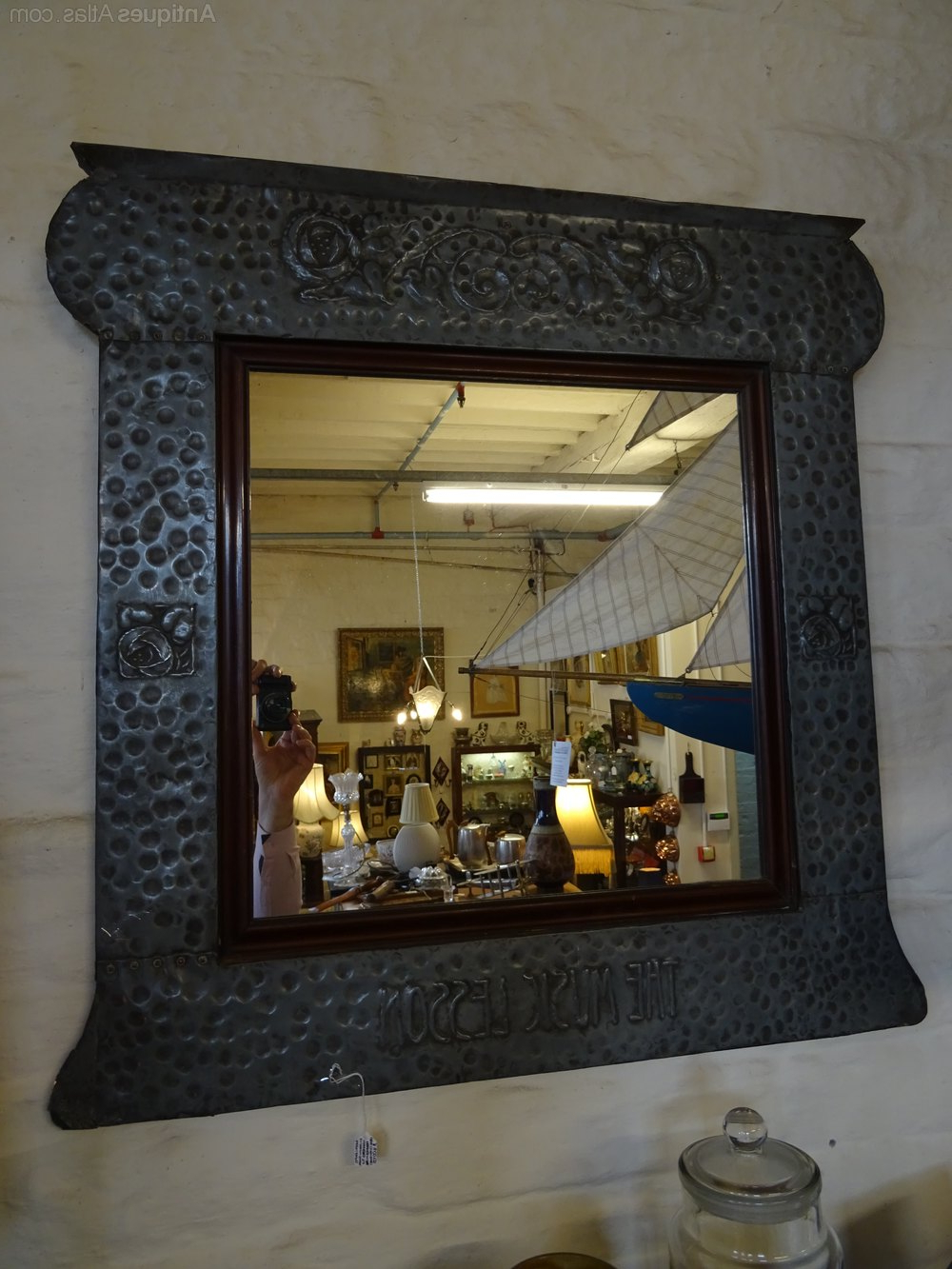 Large Framed Wall Mirrors In Current Large Arts & Crafts Pewter Framed Wall Mirror. (Gallery 14 of 20)