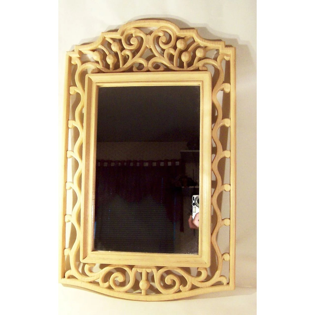 Large Framed Wall Mirrors Pertaining To Most Up To Date Large Framed Wall Mirror ~ Open Scrolling Designed Frame (View 7 of 20)