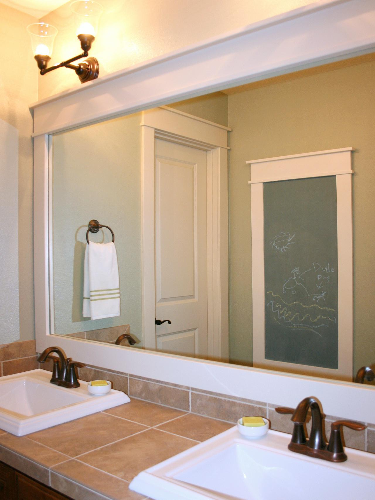 Large Framed Wall Mirrors With Current Top 33 Superb Frame Bathroom Mirror How To Plate Glass Wall Round (View 6 of 20)